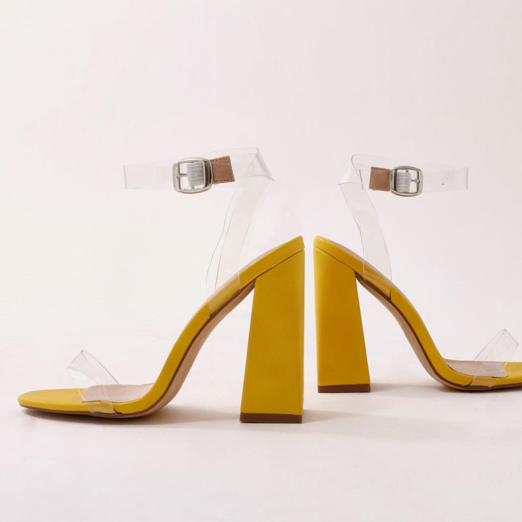 eb916b7c306 Lyst - Public Desire Charlotte Perspex High Heels In Yellow in Yellow