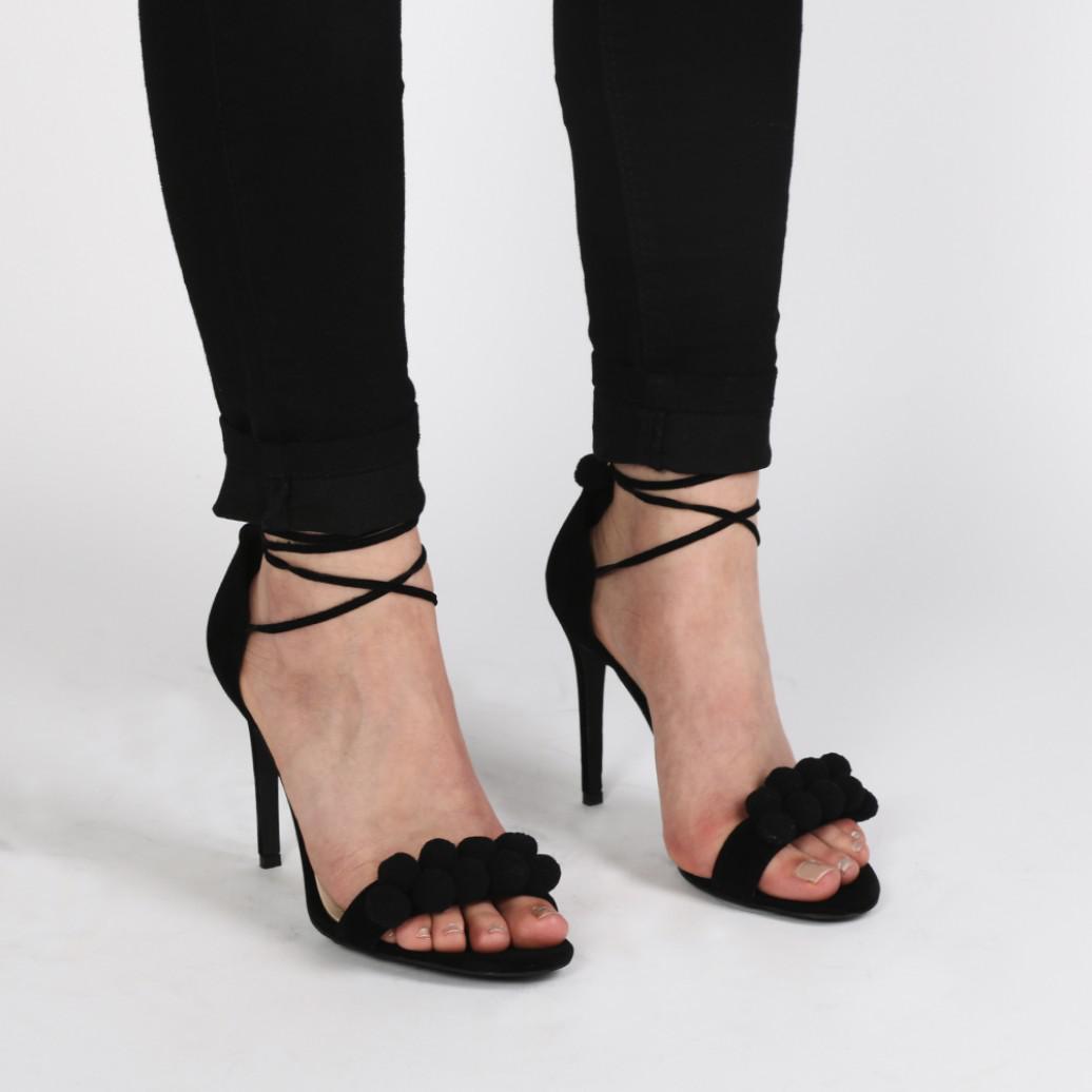 Public Desire Renee Pom Pom Sandals outlet the cheapest 1dqxgGnhC