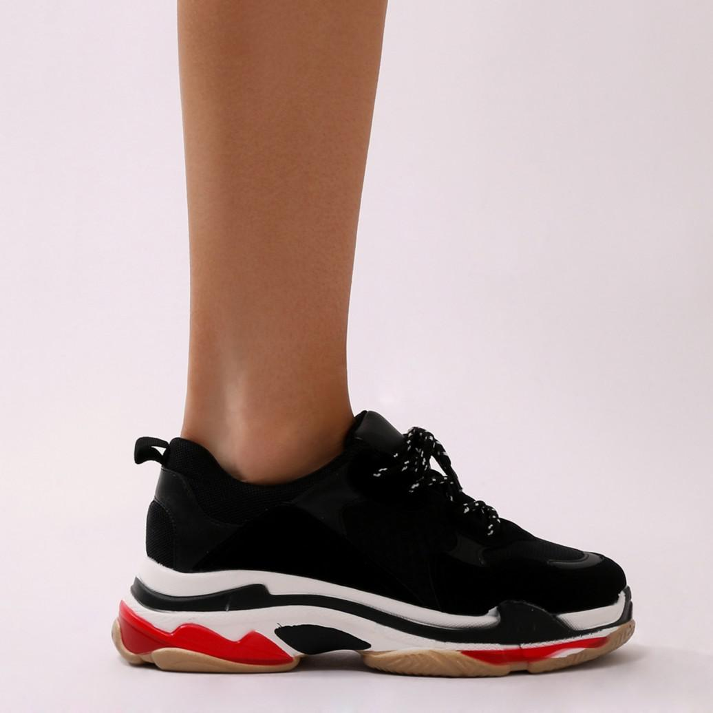 Revival Chunky Trainers In Black