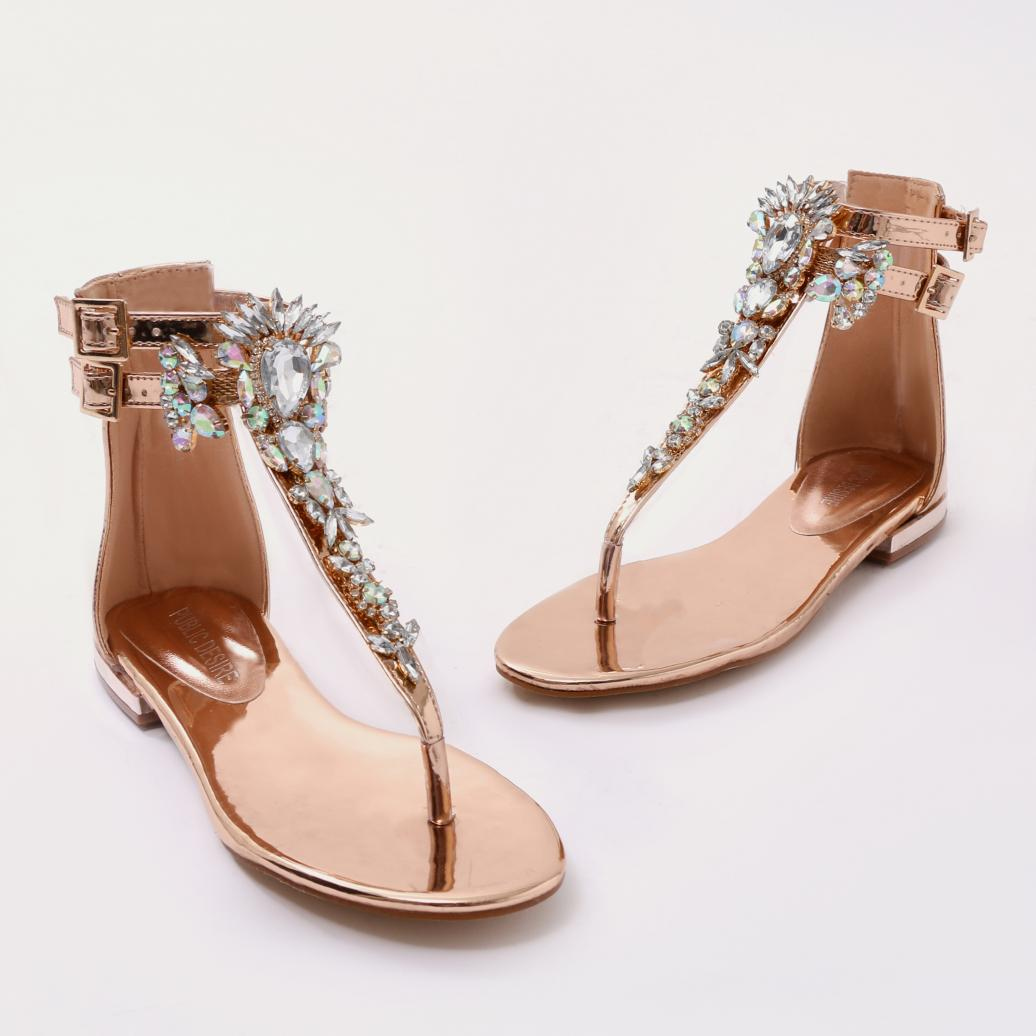 aa6f579070a7 Gallery. Previously sold at  Public Desire · Women s Gold Sandals ...