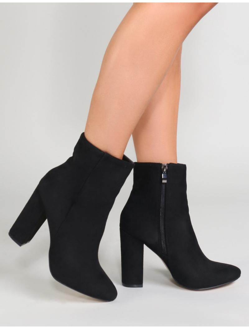 ddb76c0cd Public Desire Presley Ankle Boots In Black Faux Suede. View fullscreen
