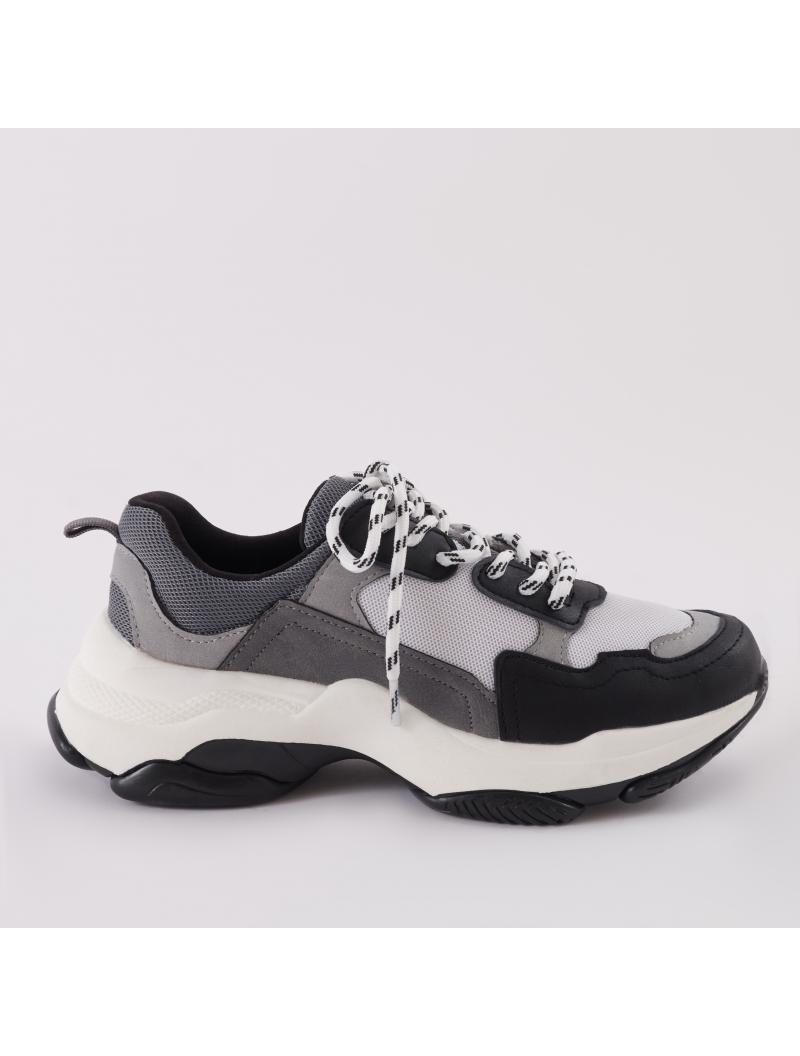 Amfo Chunky Trainers In Black \u0026 White