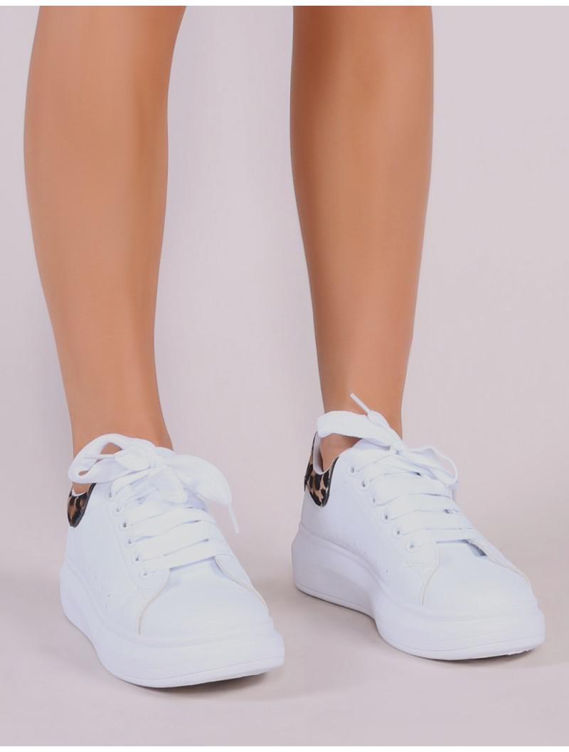 Bolt Platform Trainers In White