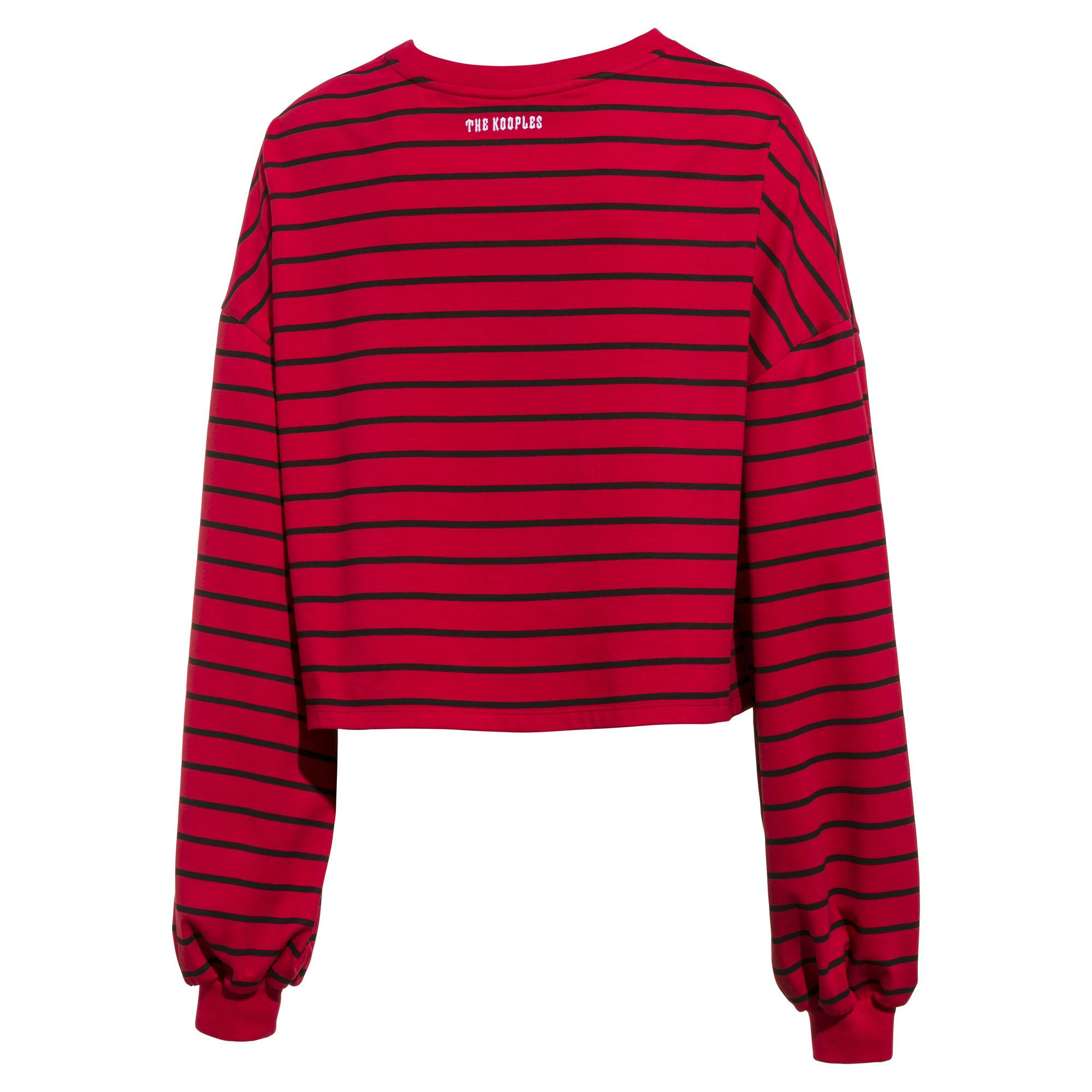 c13ca9410b PUMA X The Kooples Women's Crewneck Sweatshirt in Red - Lyst
