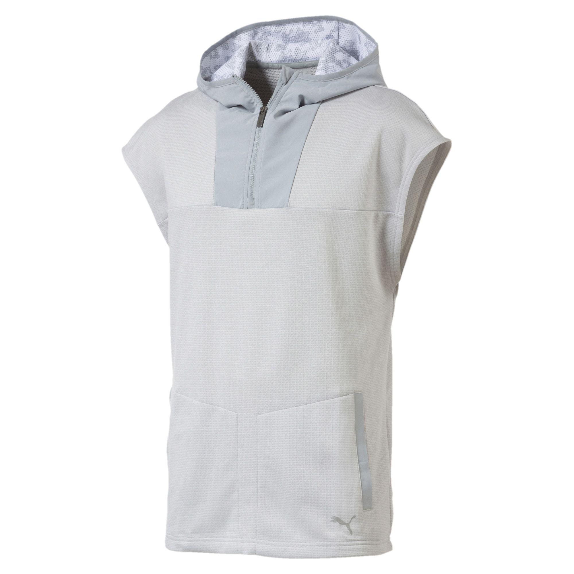 7fba231bb03c Lyst - PUMA Oceanaire Men s Sleeveless Hoodie in Gray for Men