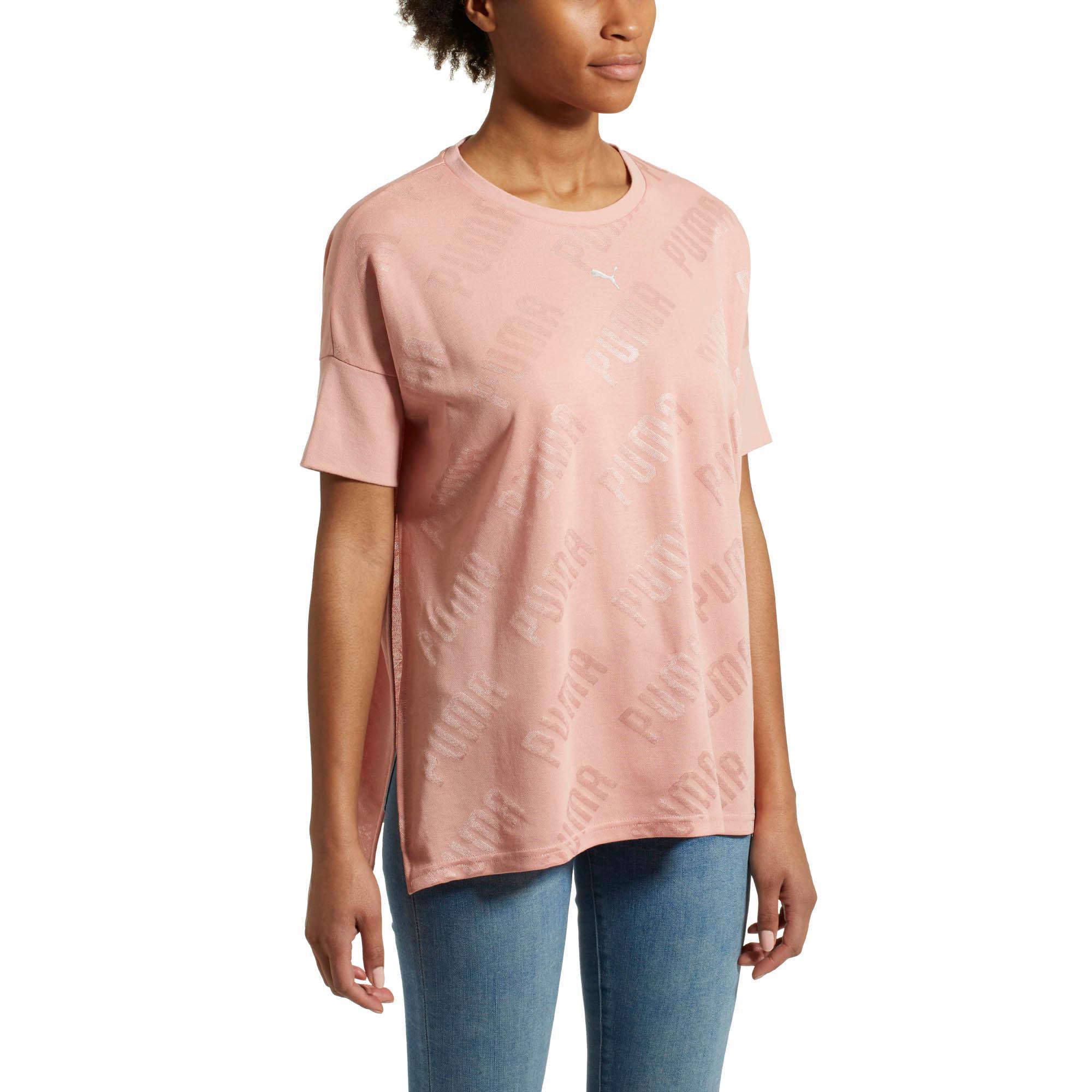 a5553c0dd136f4 Lyst - PUMA En Pointe Women s Wide Tee in Pink