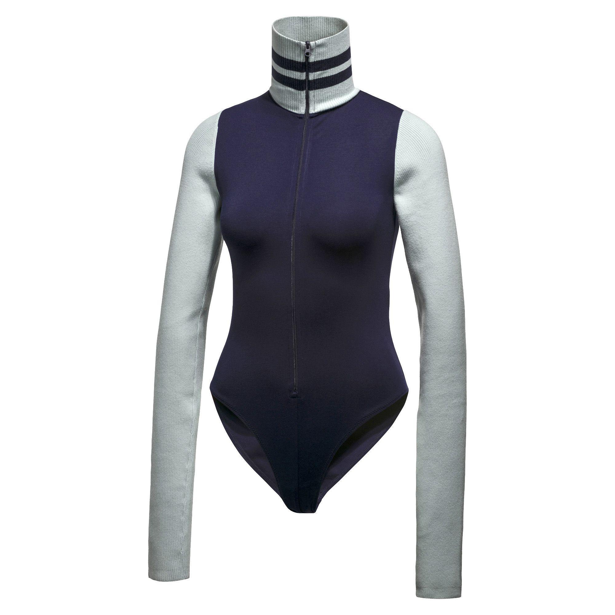 e1377162c7 PUMA Blue Fenty Women's Longsleeve Full Zip Bodysuit