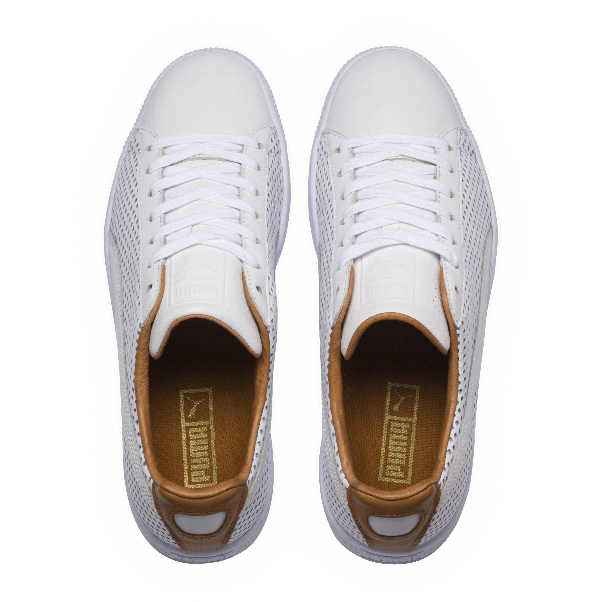 eef0bdd66d PUMA White Clyde Colorblock 2 Sneakers