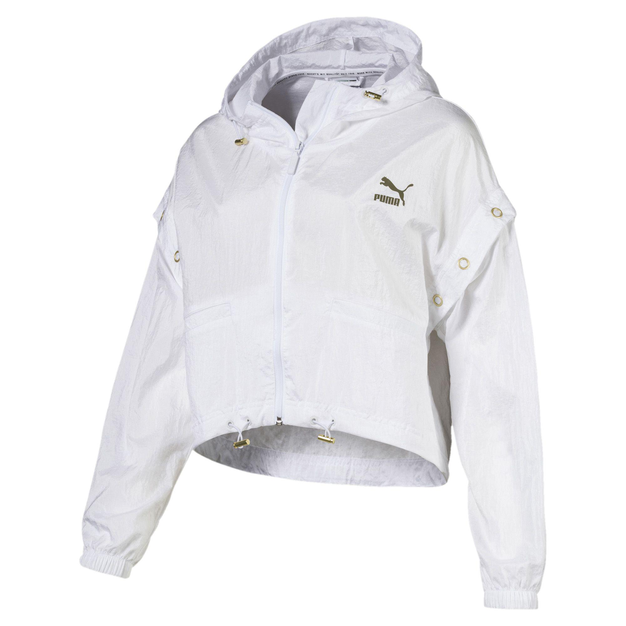 f5196c1e75e3 Lyst - PUMA Retro Windrunner Zip-up Women s Hooded Jacket in White