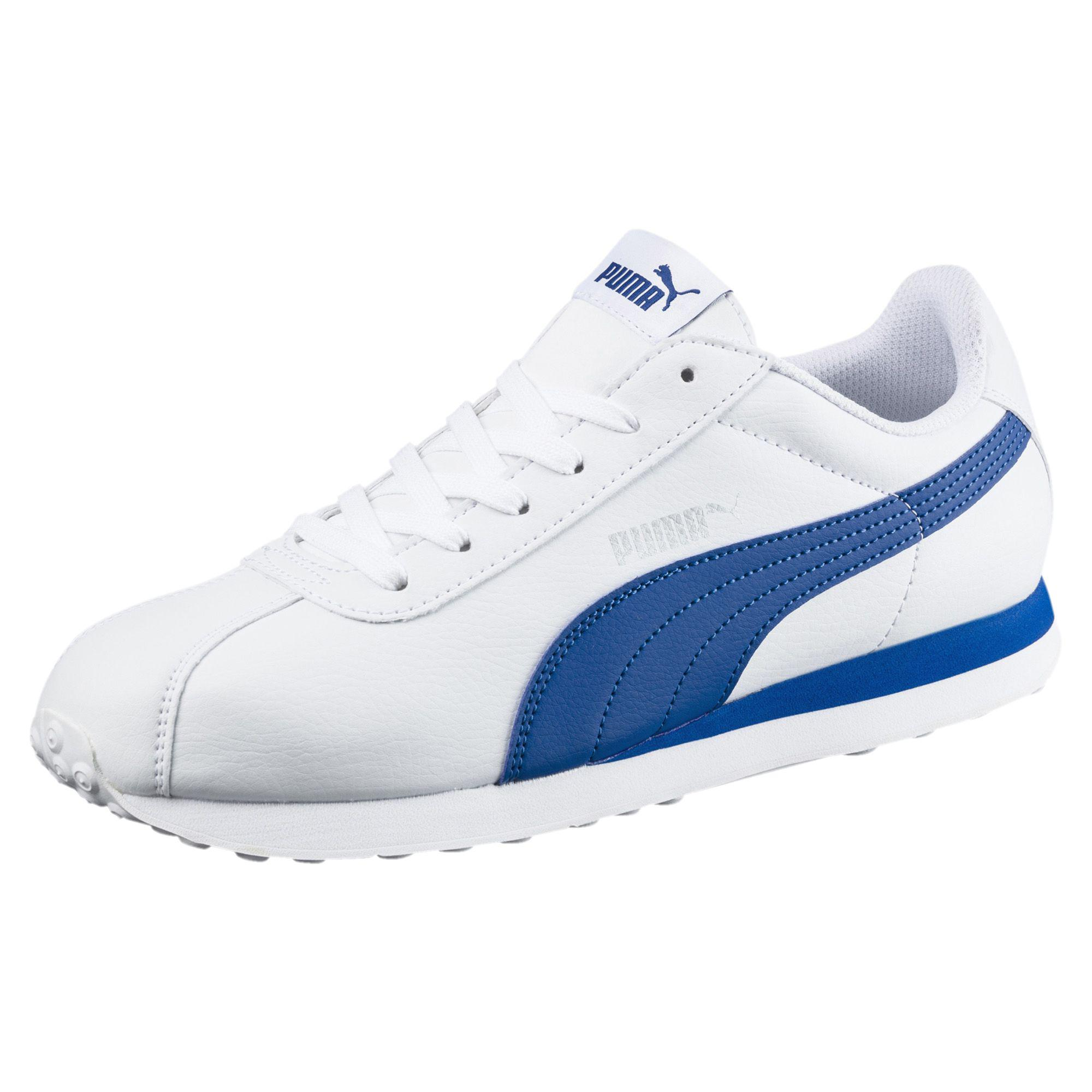 PUMA Leather Turin Men's Sneakers in Blue for Men - Lyst