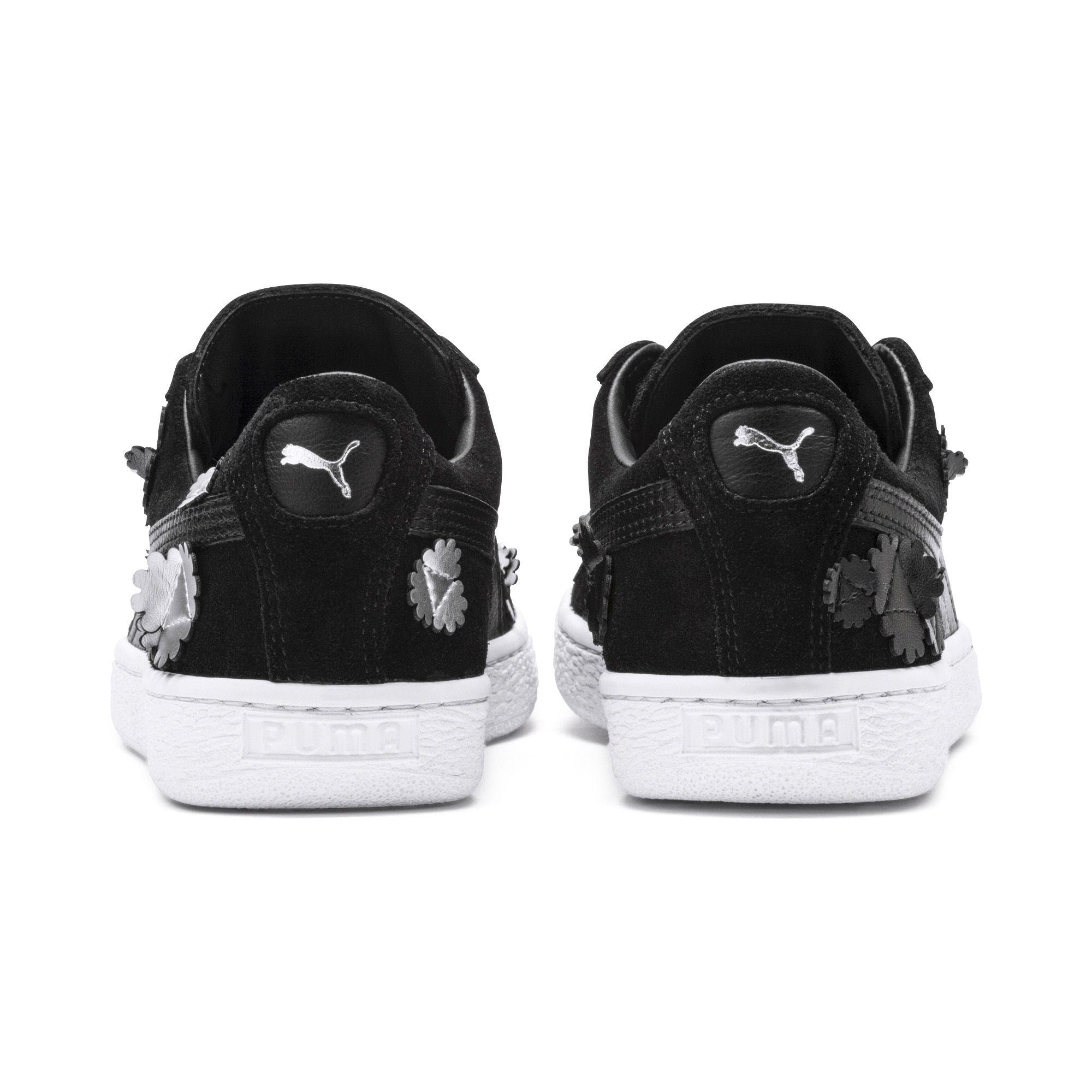 7efa6ddf8167 PUMA - Black Suede Classic Autumn Bloom Women s Sneakers - Lyst. View  fullscreen
