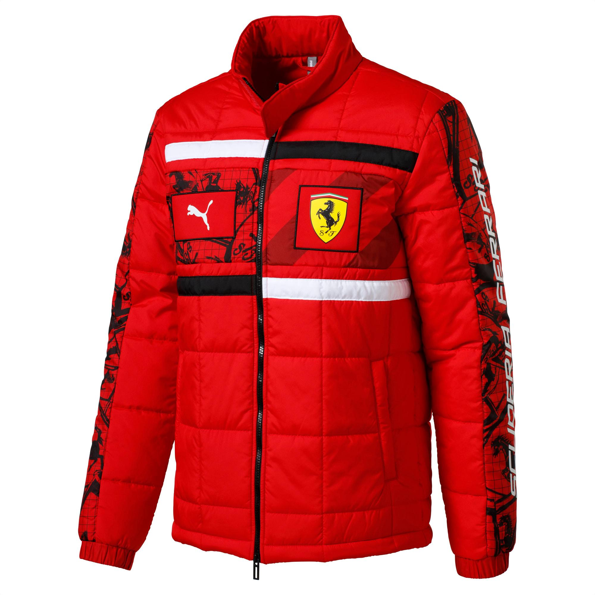 Puma Synthetic Scuderia Ferrari Men S Racing Jacket In Red For Men Lyst