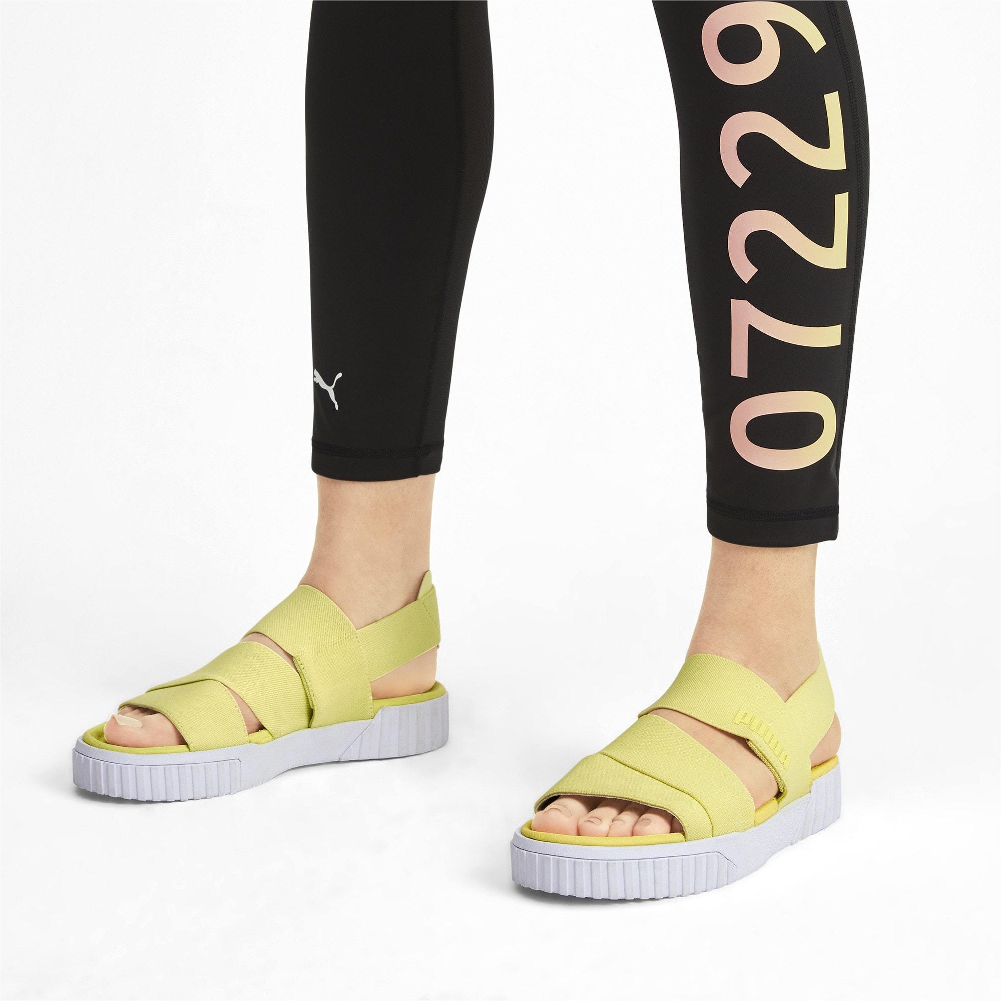 PUMA Rubber Sg X Cali Sandal in Yellow