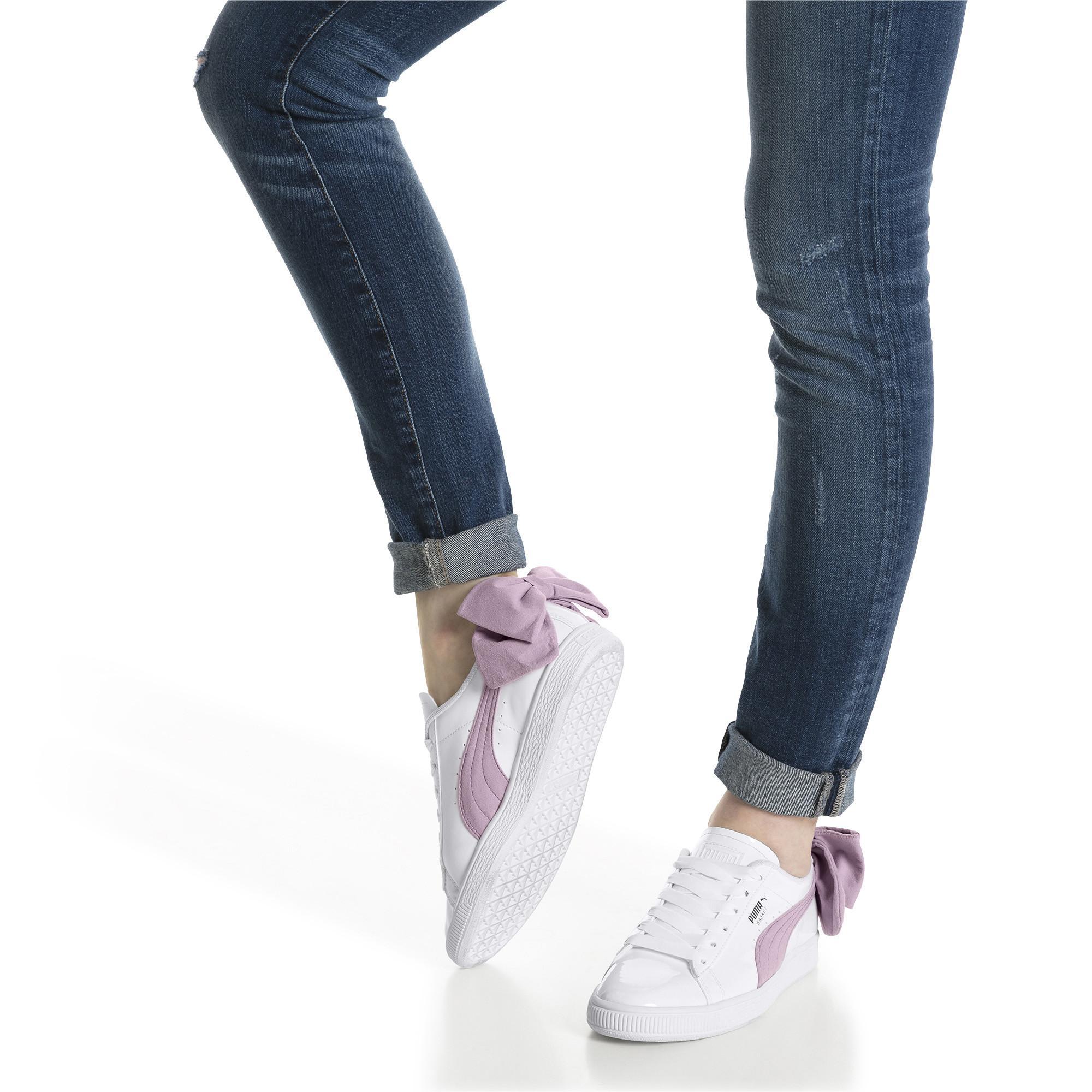 PUMA Womens Basket Bow Wn Sneaker