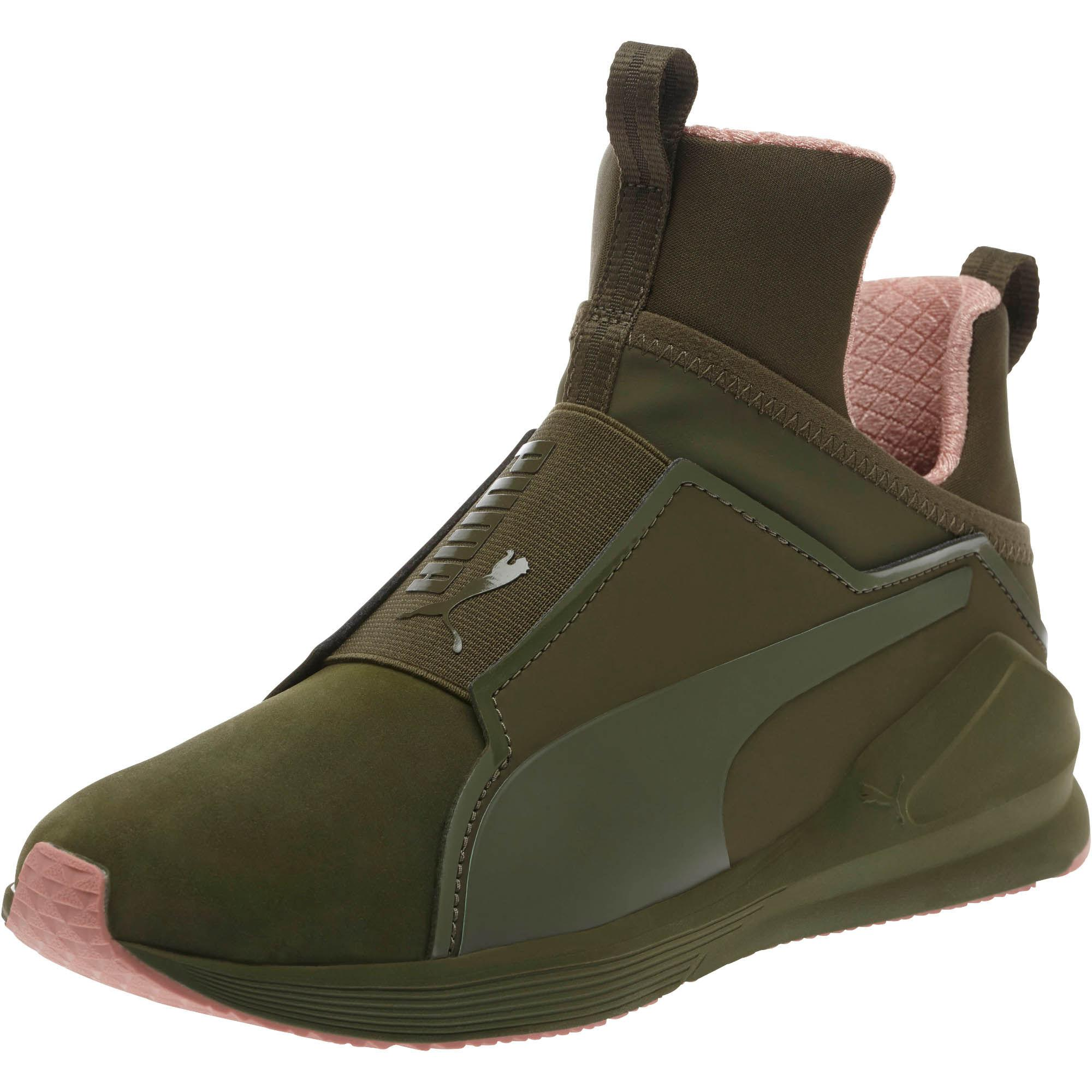 Lyst - PUMA Fierce Nubuck Naturals Women s Training Shoes in Green 535bef454