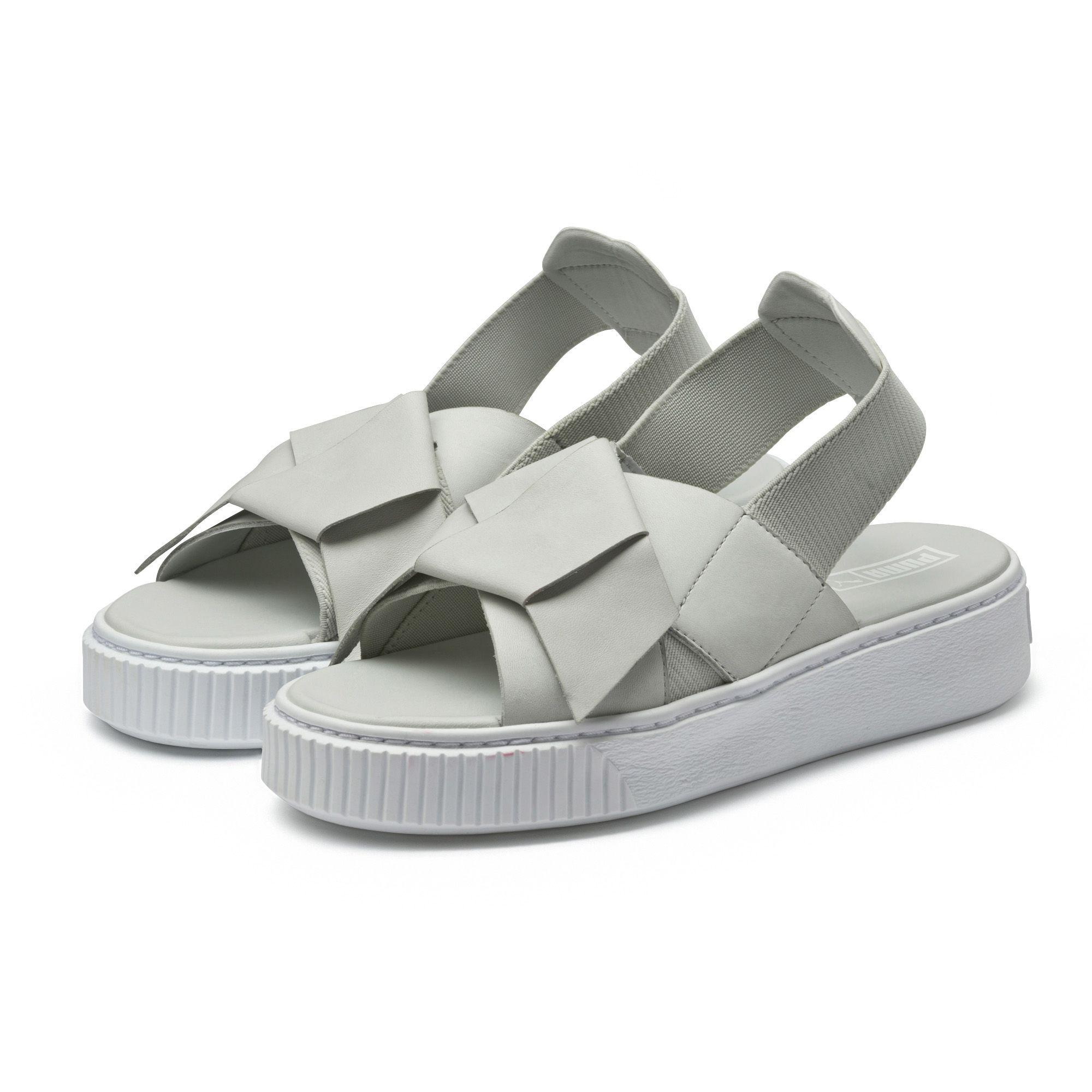 1a53c64233f Lyst - PUMA Platform Leather Women s Sandals in Gray