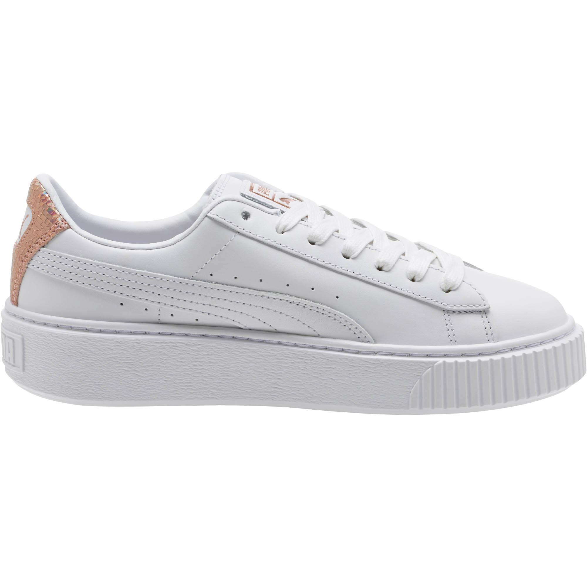 detailed look d5d67 d23d8 Women's Basket Platform Rg ( White/rose Gold) Shoes