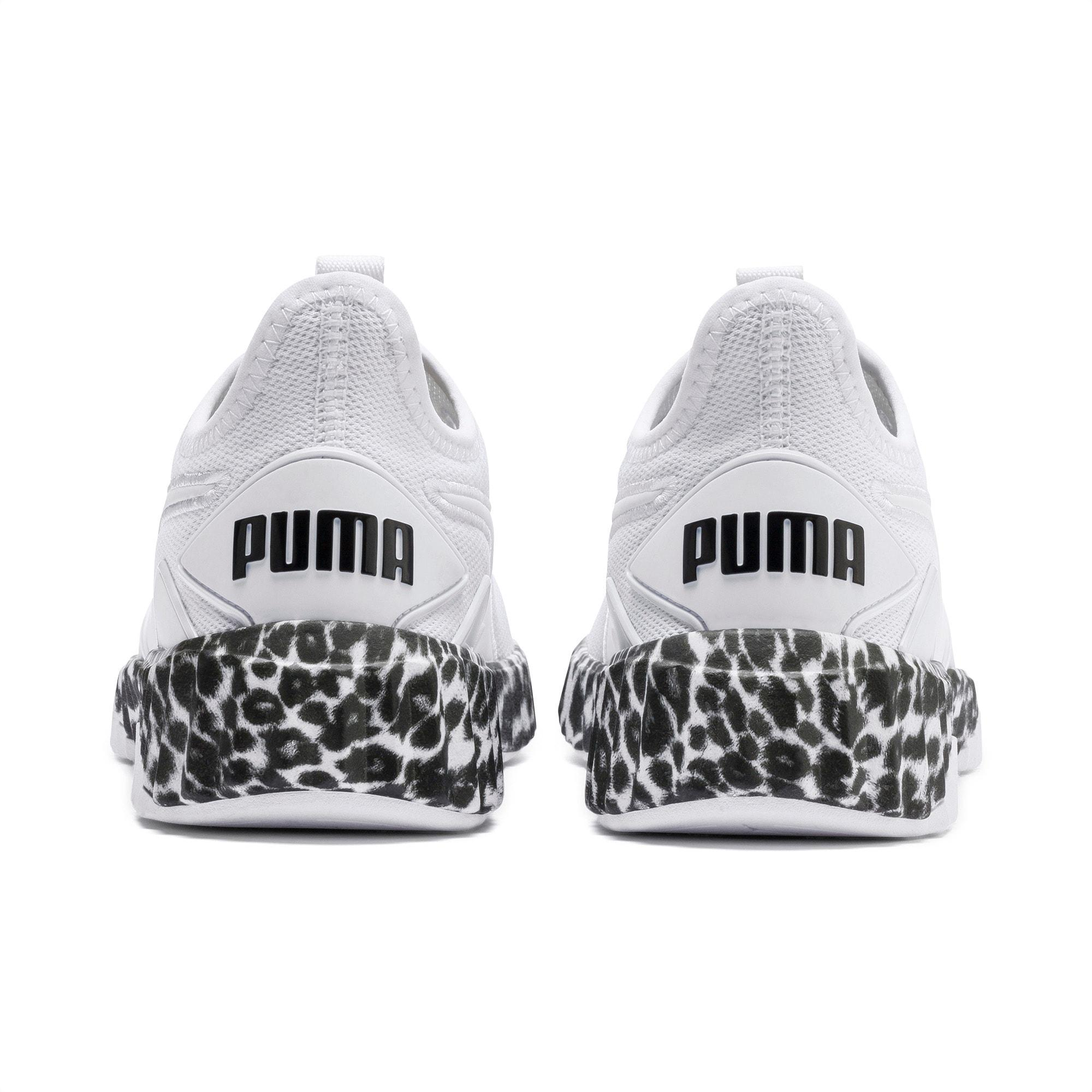 Defy Leopard Women's Sneakers in White