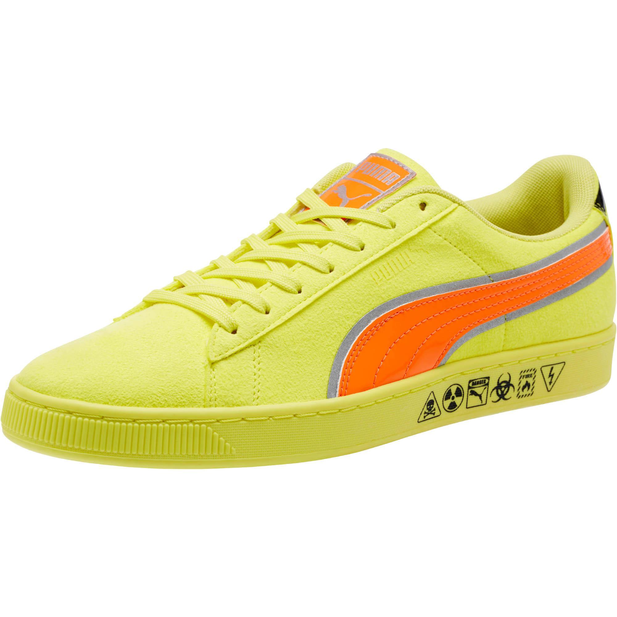 Lyst - PUMA Hazard Yellow Suede Sneakers in Yellow for Men 51476263feb