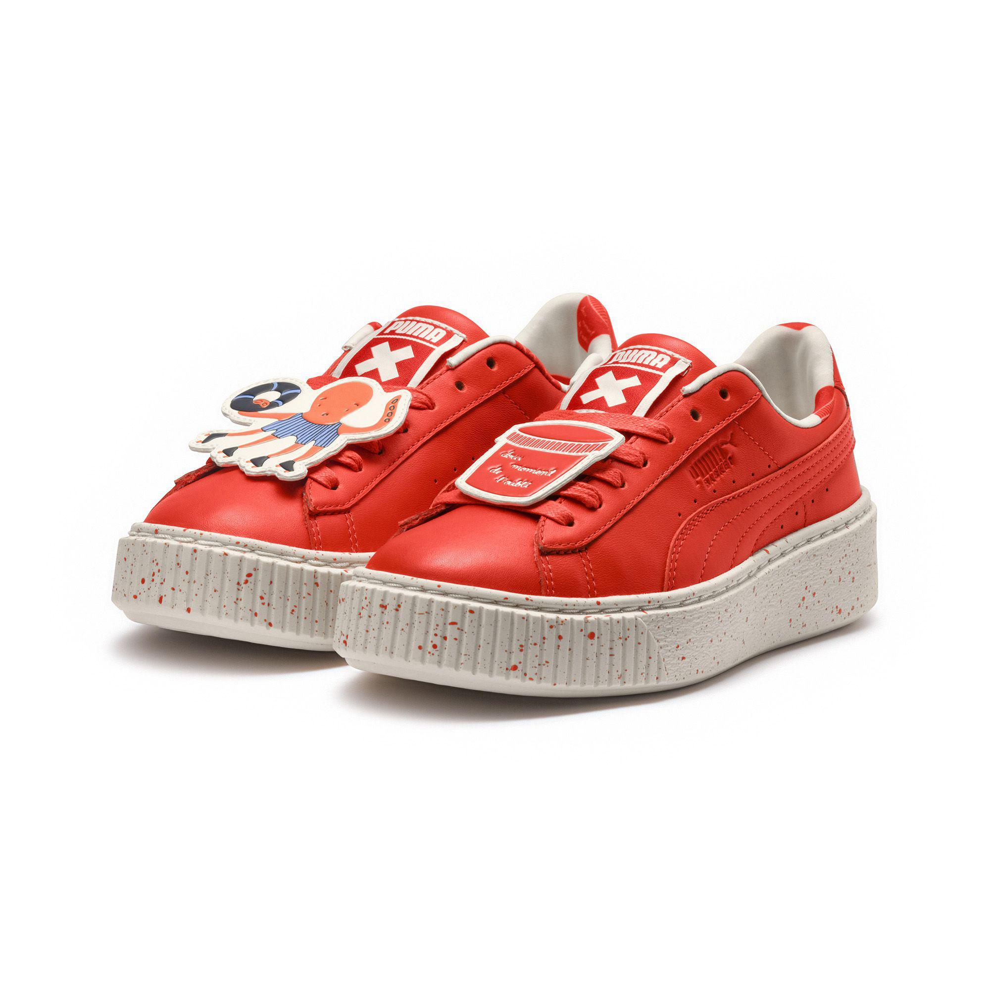 1af5d1103e PUMA Red X Tinycottons Platform Jr Sneakers