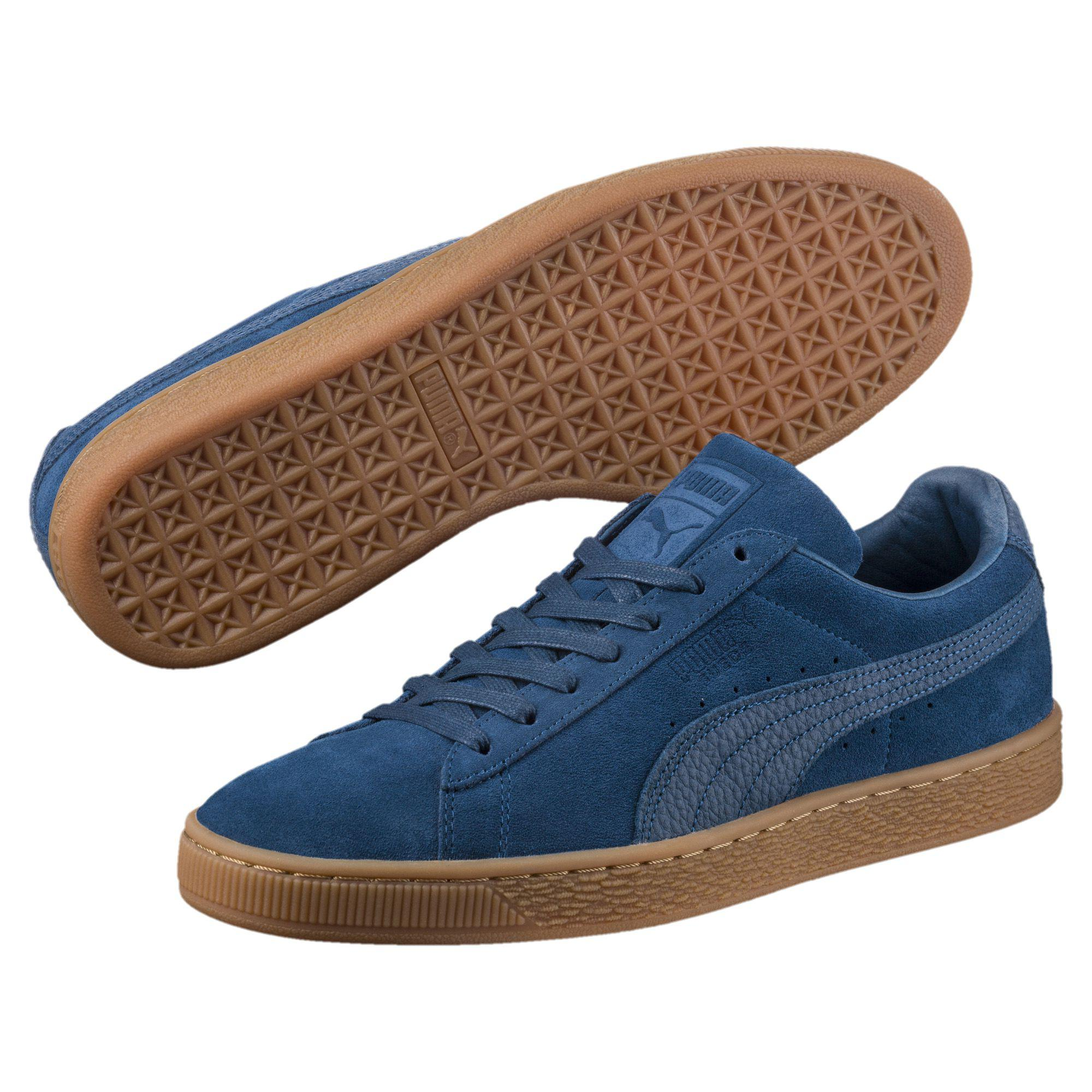 online store 9eac3 aa07a Men's Blue Suede Classic Natural Warmth Sneakers
