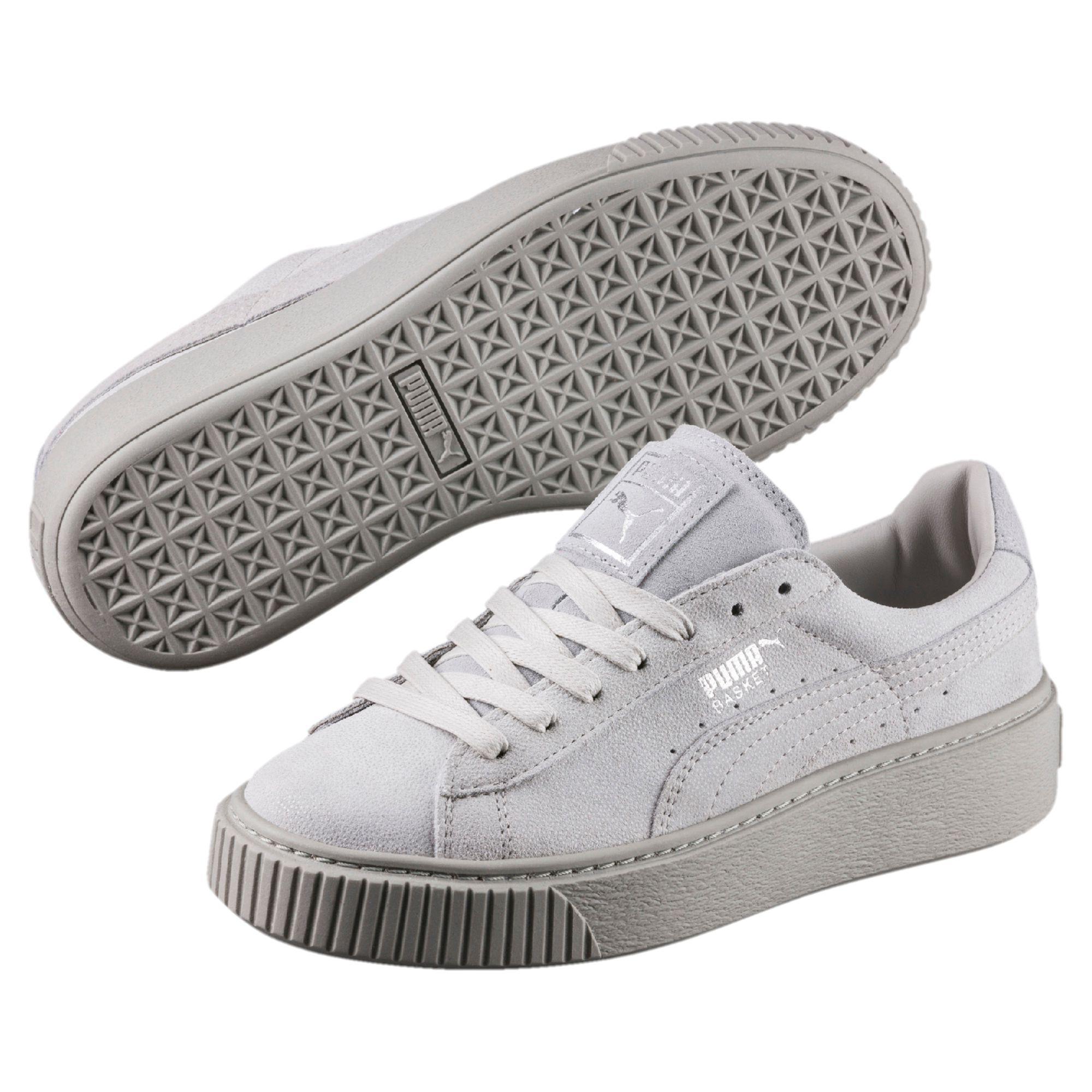 Gray Basket Platform Reset Women's Sneakers