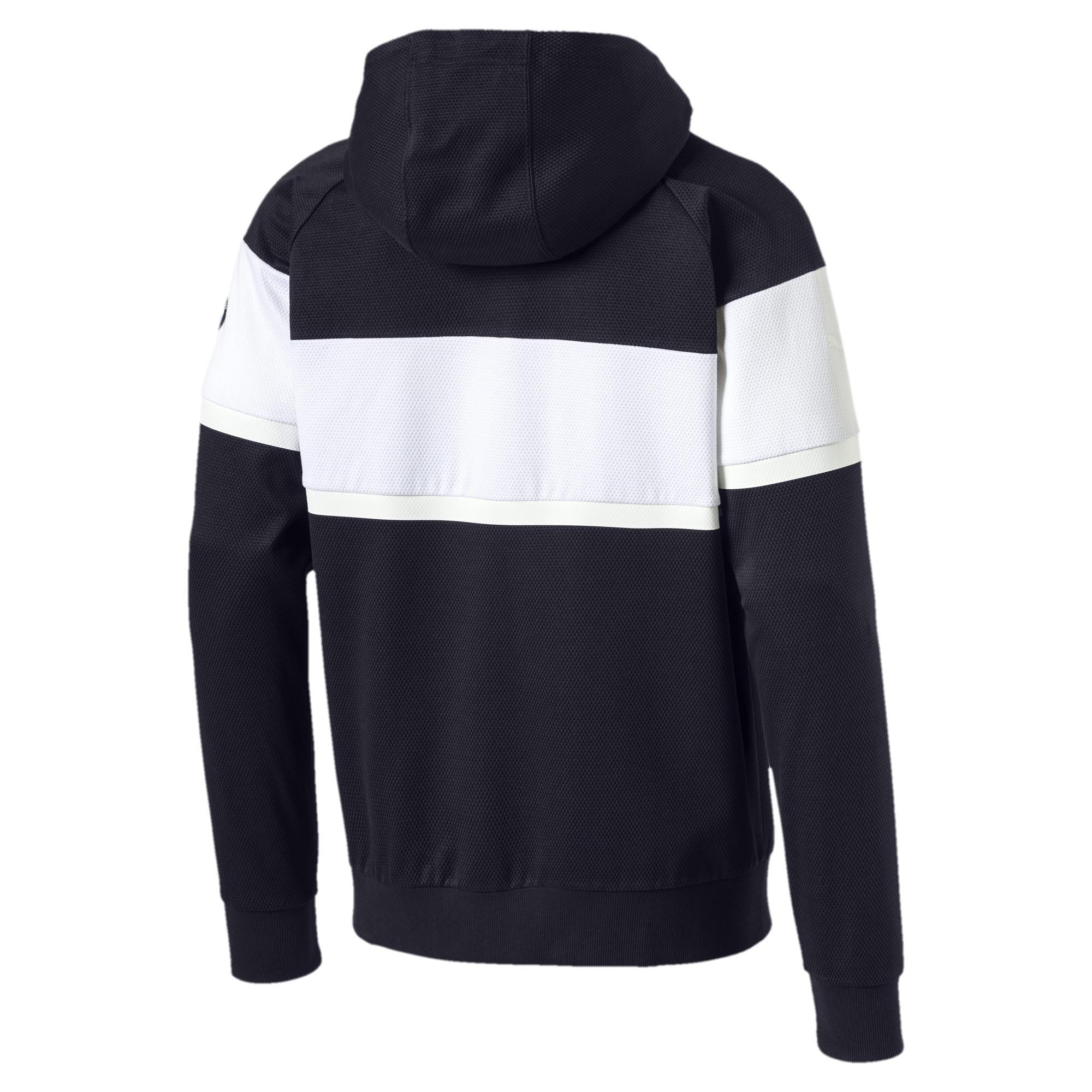 b58d00a70f6f PUMA - Blue Bmw Mms Hooded Sweat Jacket for Men - Lyst. View fullscreen