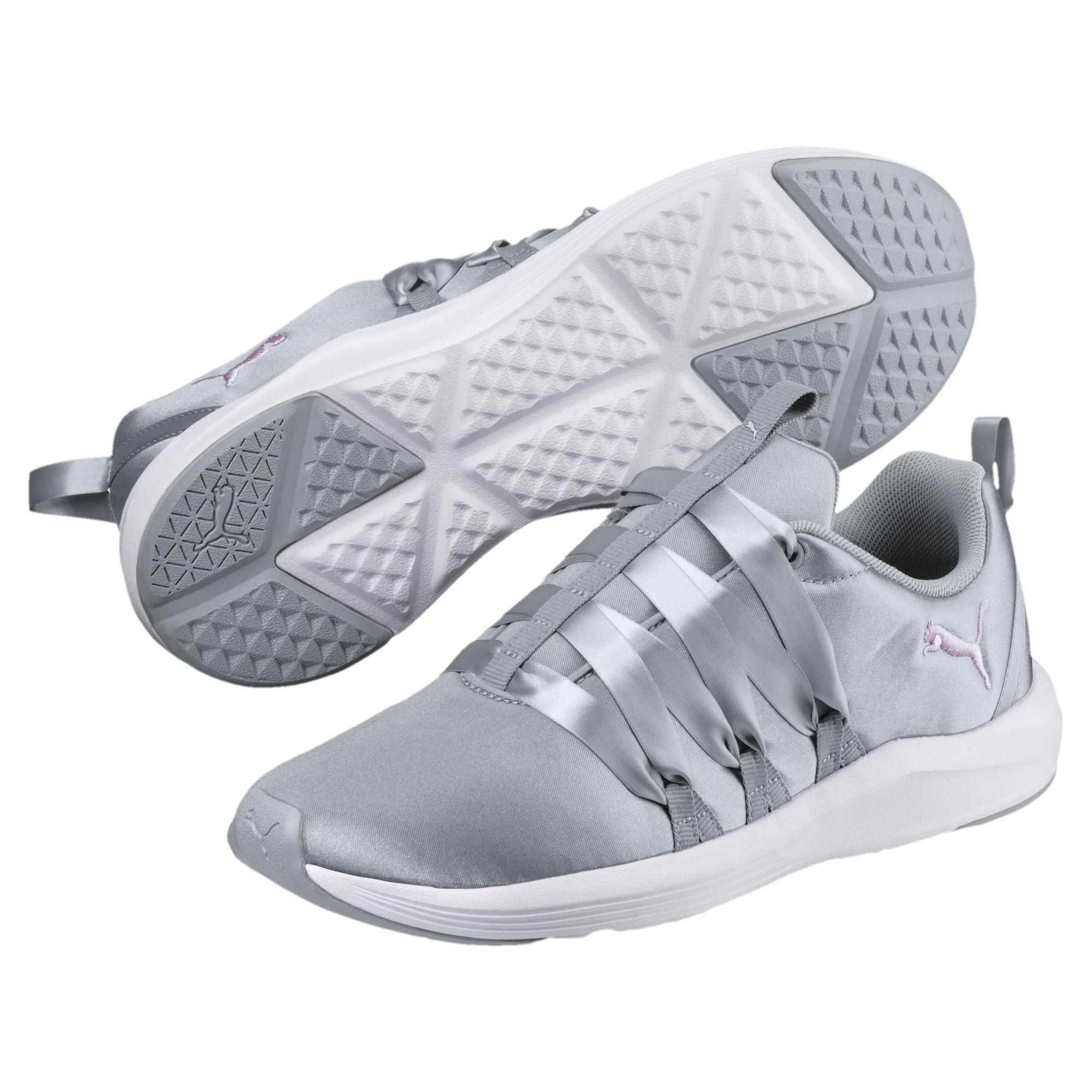 087268fbe133 PUMA - White Prowl Alt Satin Women s Training Shoes - Lyst. View fullscreen