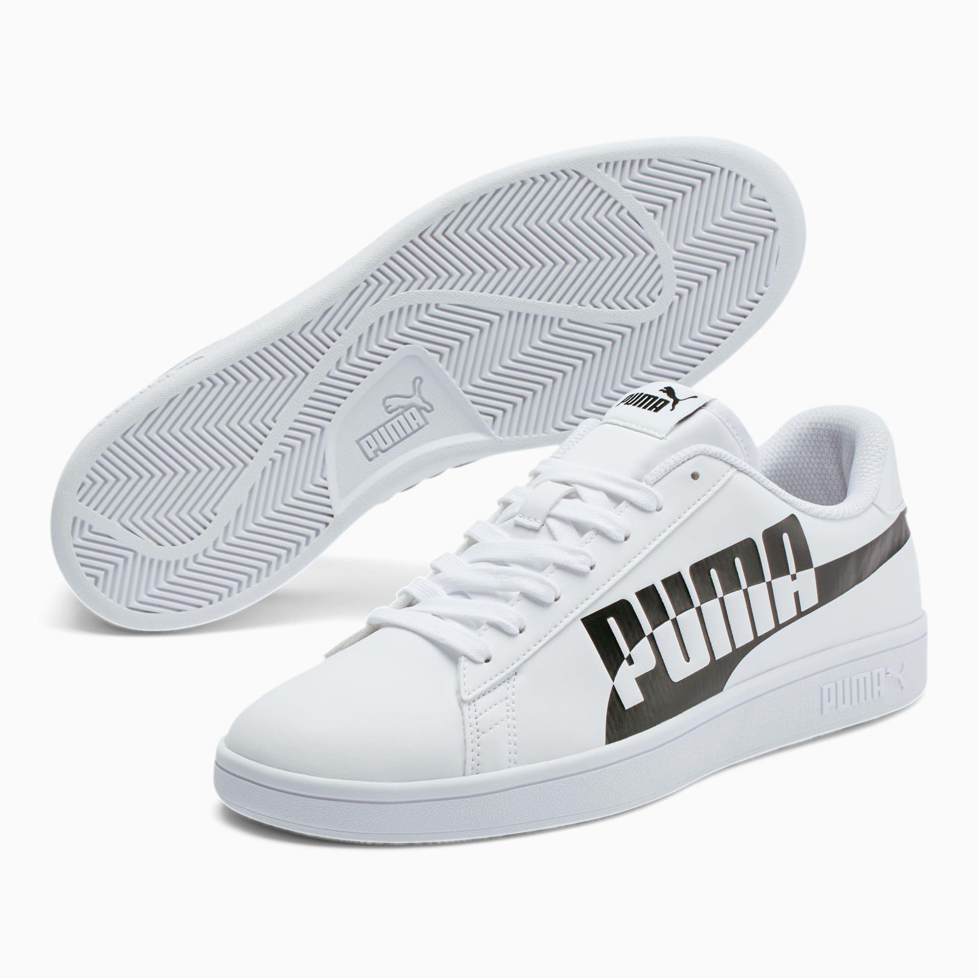 PUMA Leather Smash V2 Max Sneakers in White for Men - Lyst