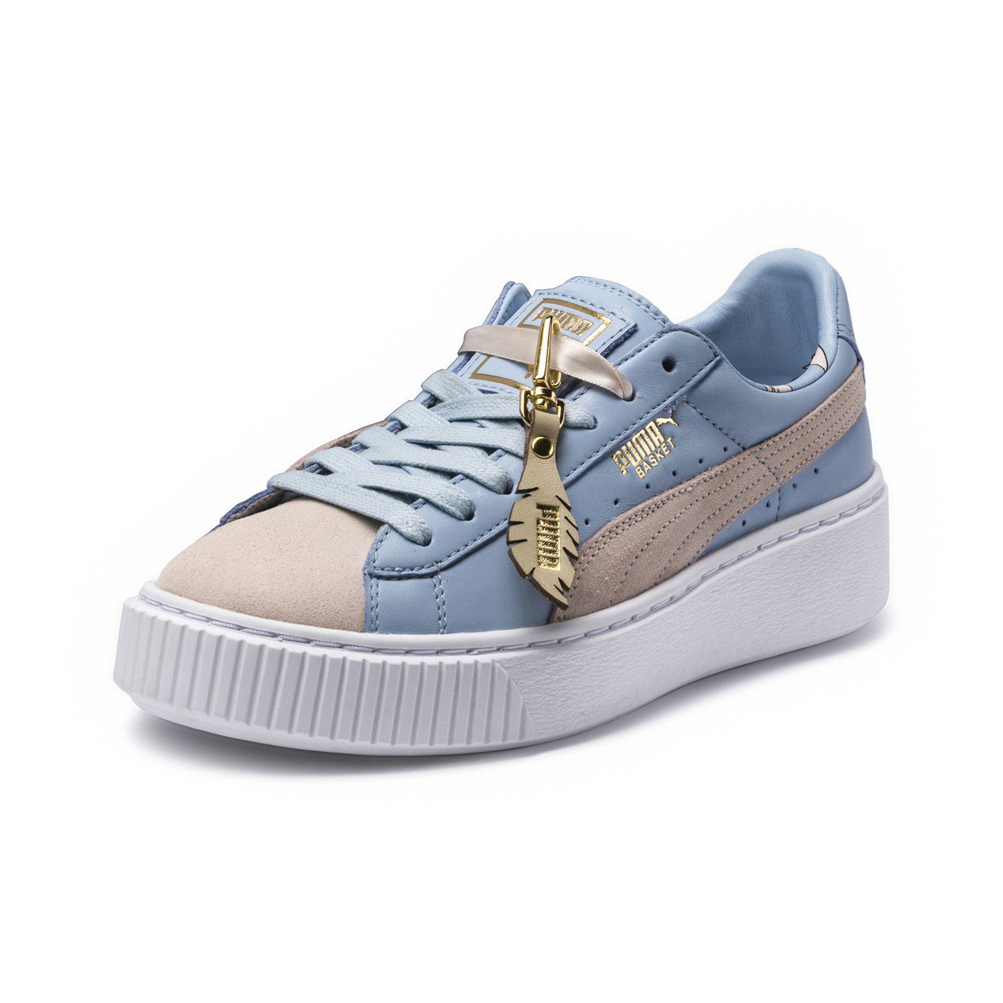 eae3722f7f6a Lyst - PUMA Basket Platform Festival Women s Sneakers in Blue
