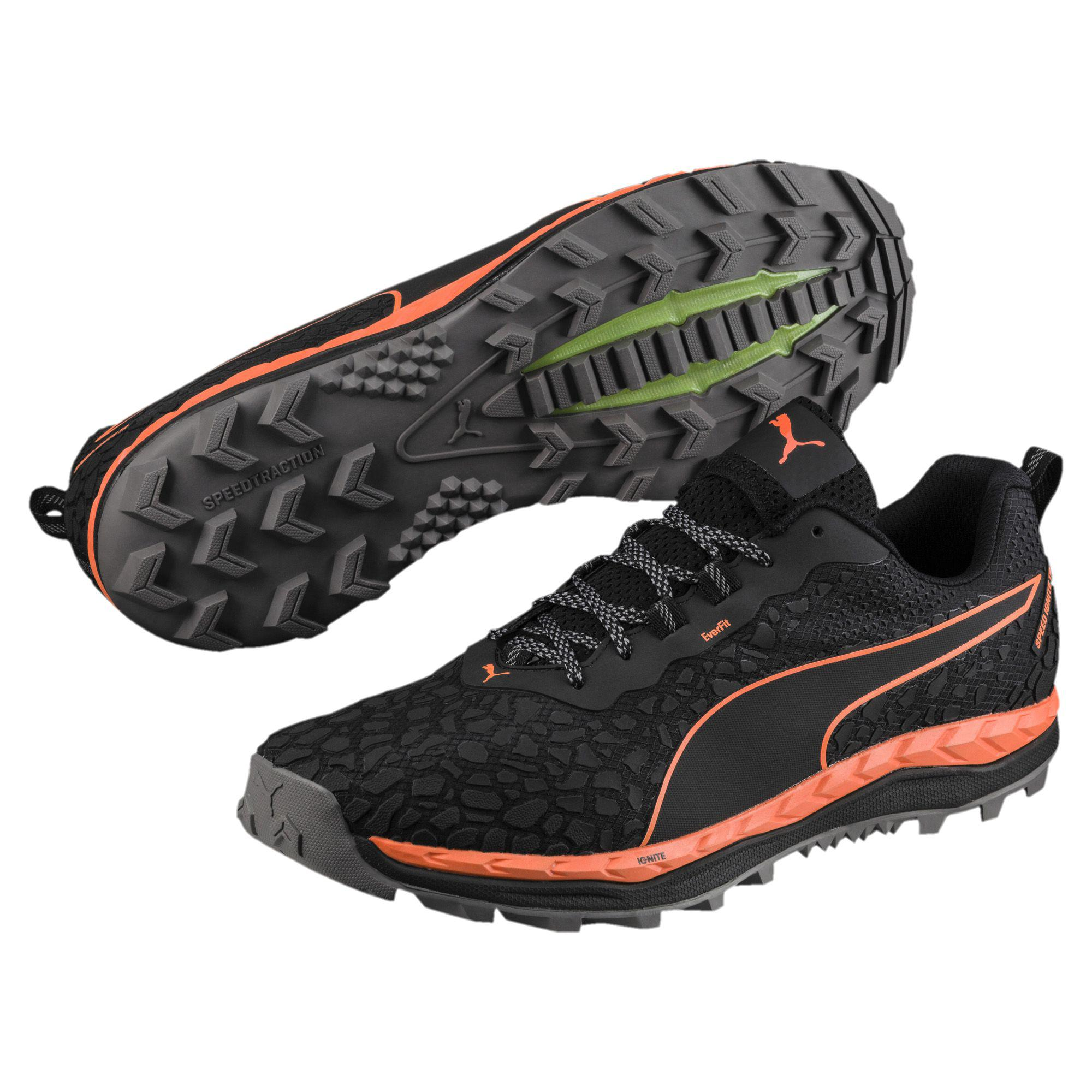 PUMA Lace Speed Ignite Trail Men's Running Shoes in Black for Men ...