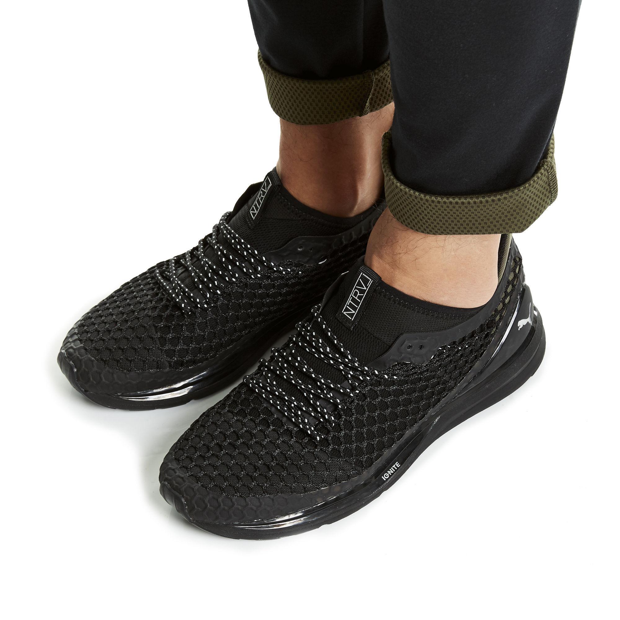 online retailer cd26b 7fe75 PUMA Black X Staple Ignite Limitless Netfit Training Shoes for men