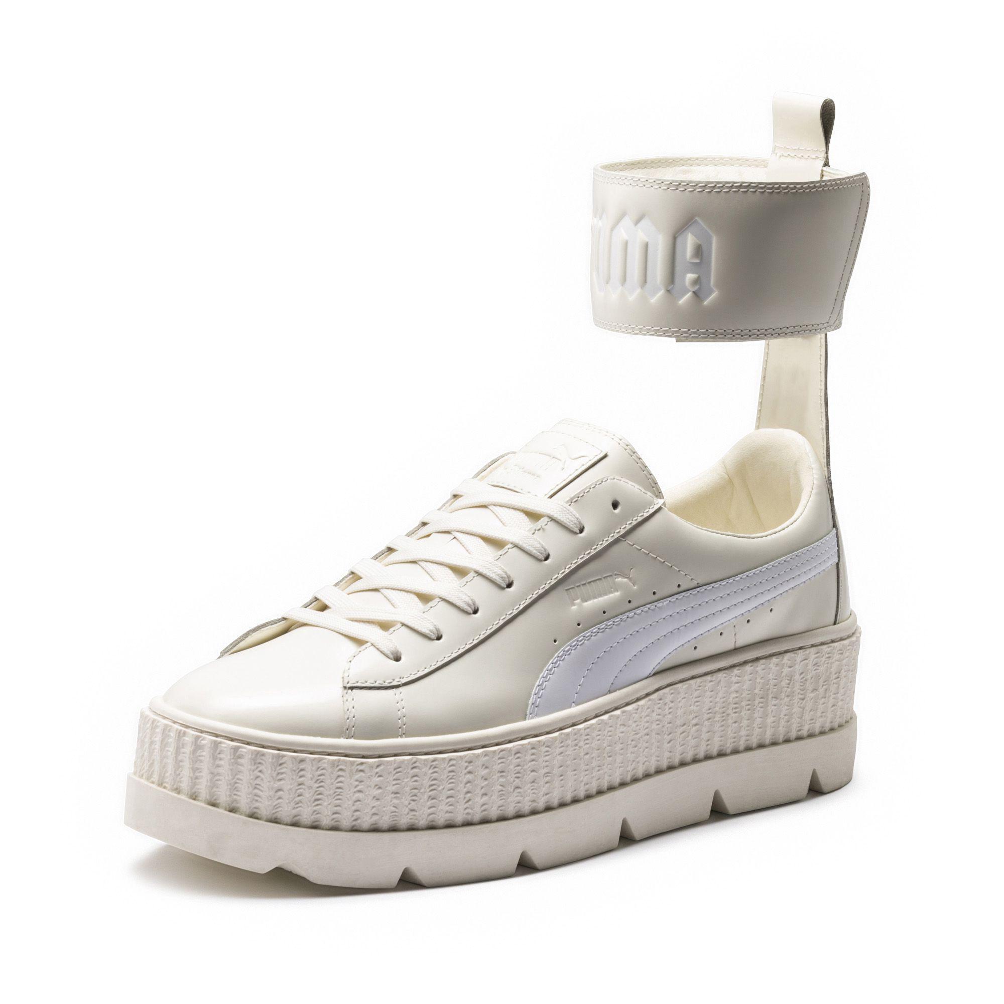 buy popular 5a0d1 d9259 White Fenty Men's Ankle Strap Sneaker