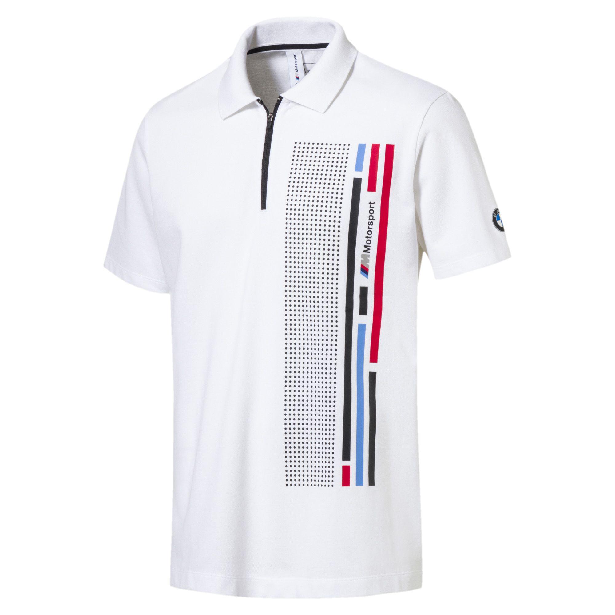56bde902948 Lyst - PUMA Bmw Mms Quarter Zip Men s Graphic Polo in White for Men