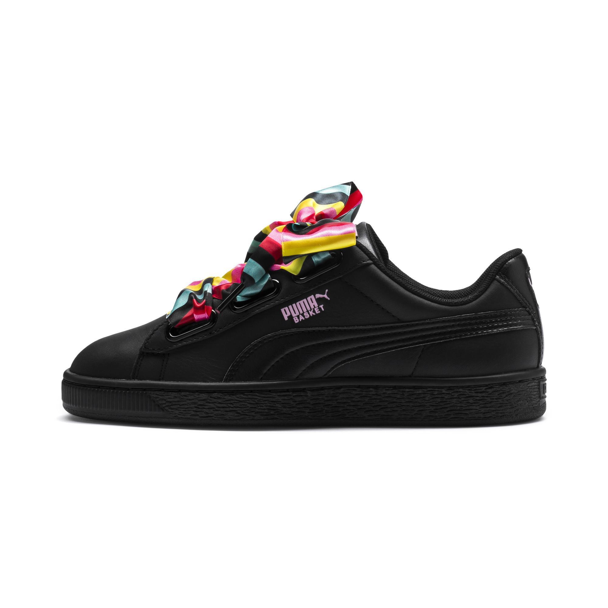 Lyst - PUMA Basket Heart Generation Hustle Women s Sneakers in Black 420bb4288