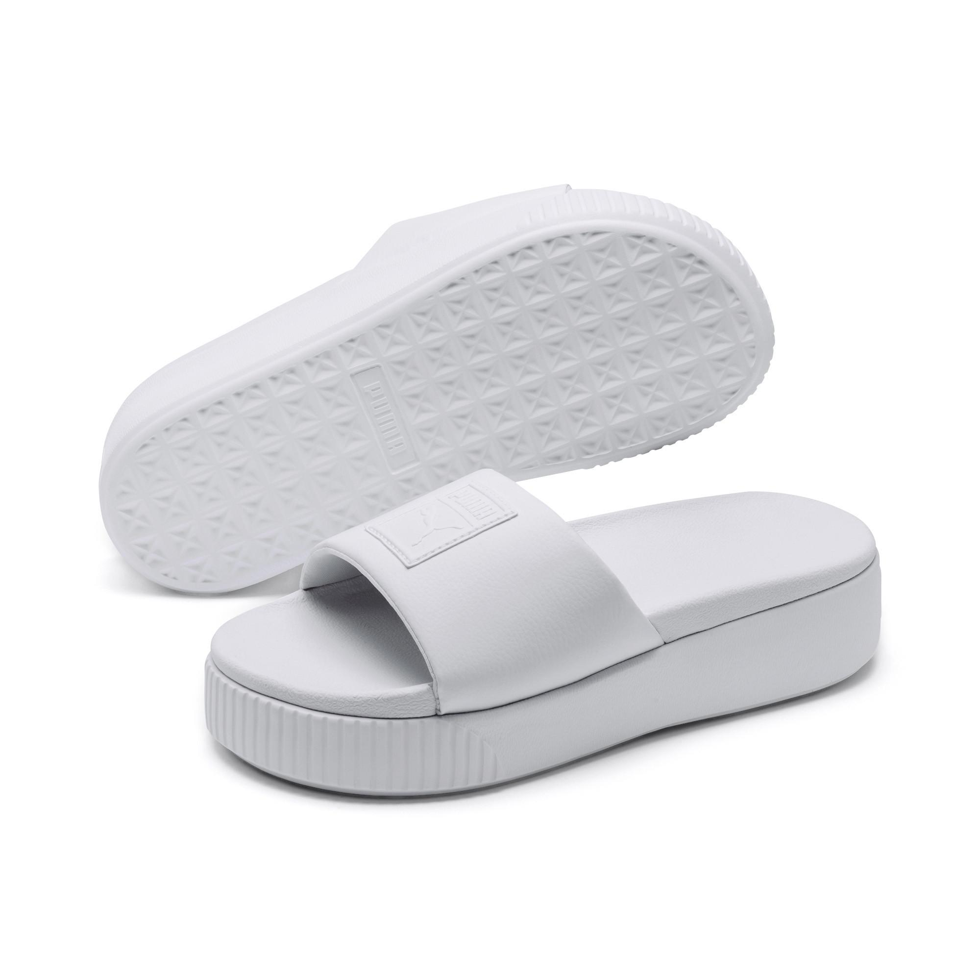 PUMA Synthetic White Bold Platform