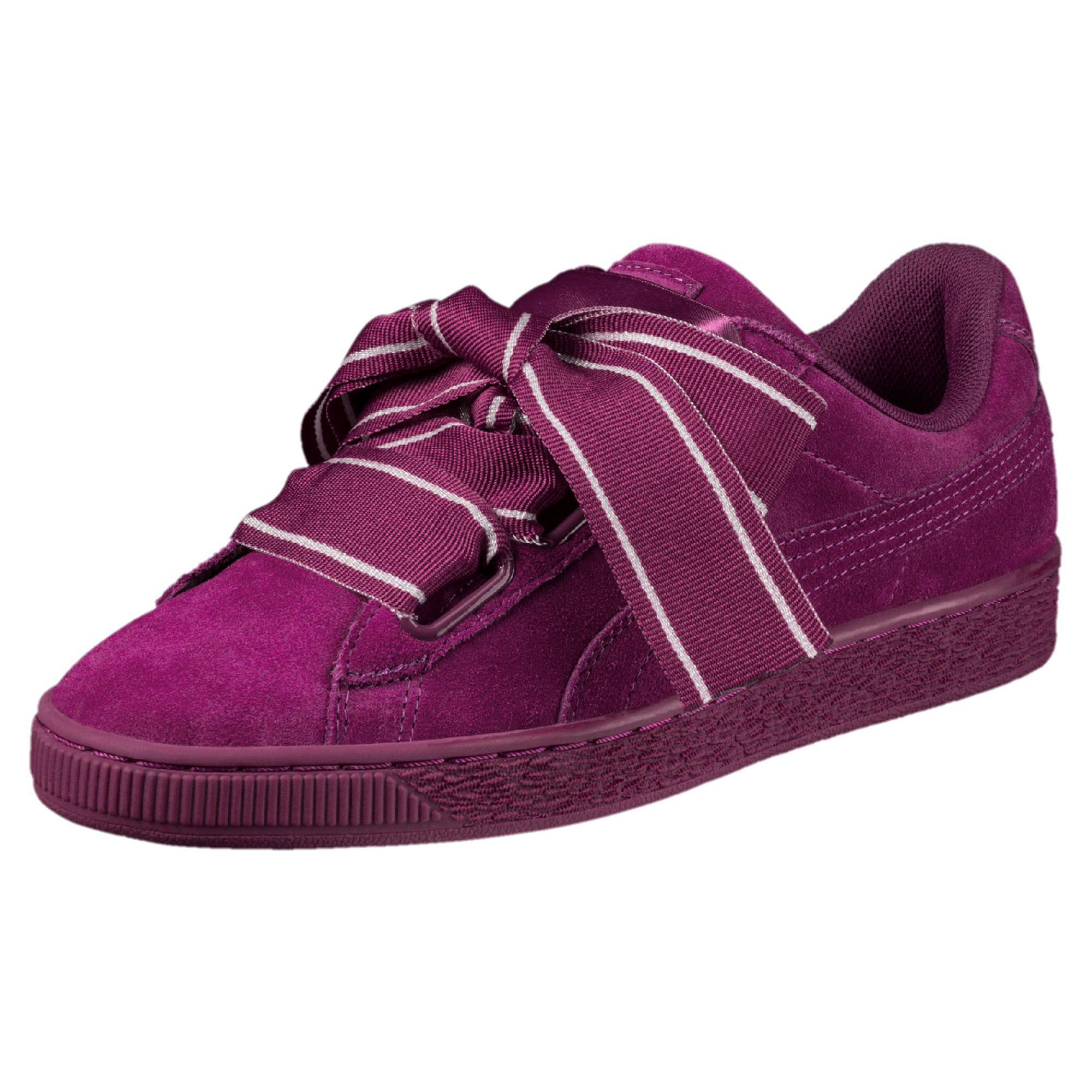 size 40 b65dd 10323 Purple Suede Heart Satin Ii Women's Sneakers