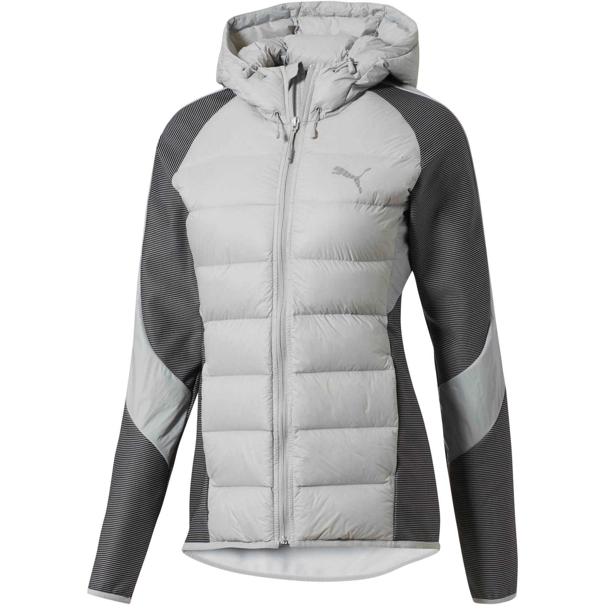 a79b5aa35ce42 Lyst - PUMA Hybrid 600 Down Women s Jacket in Gray