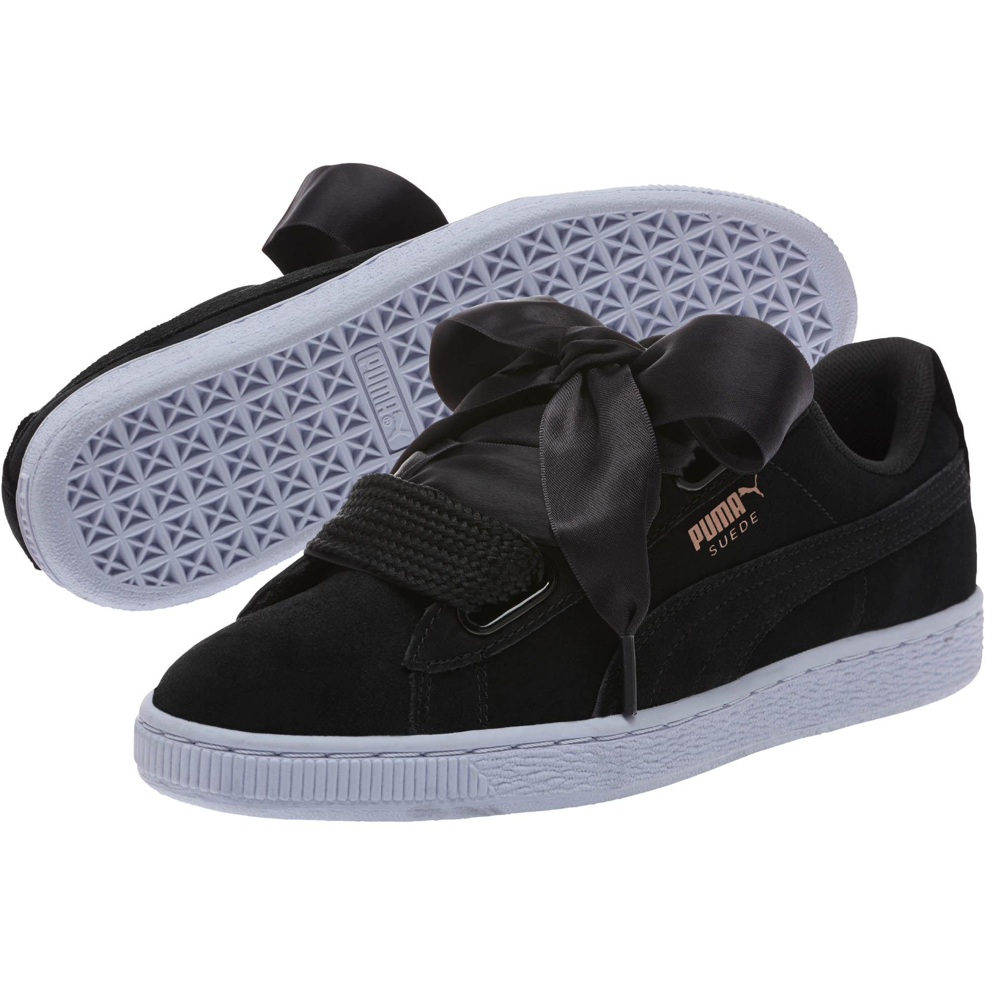 new products b2fb8 9afed Black Suede Heart Vr Women's Sneakers