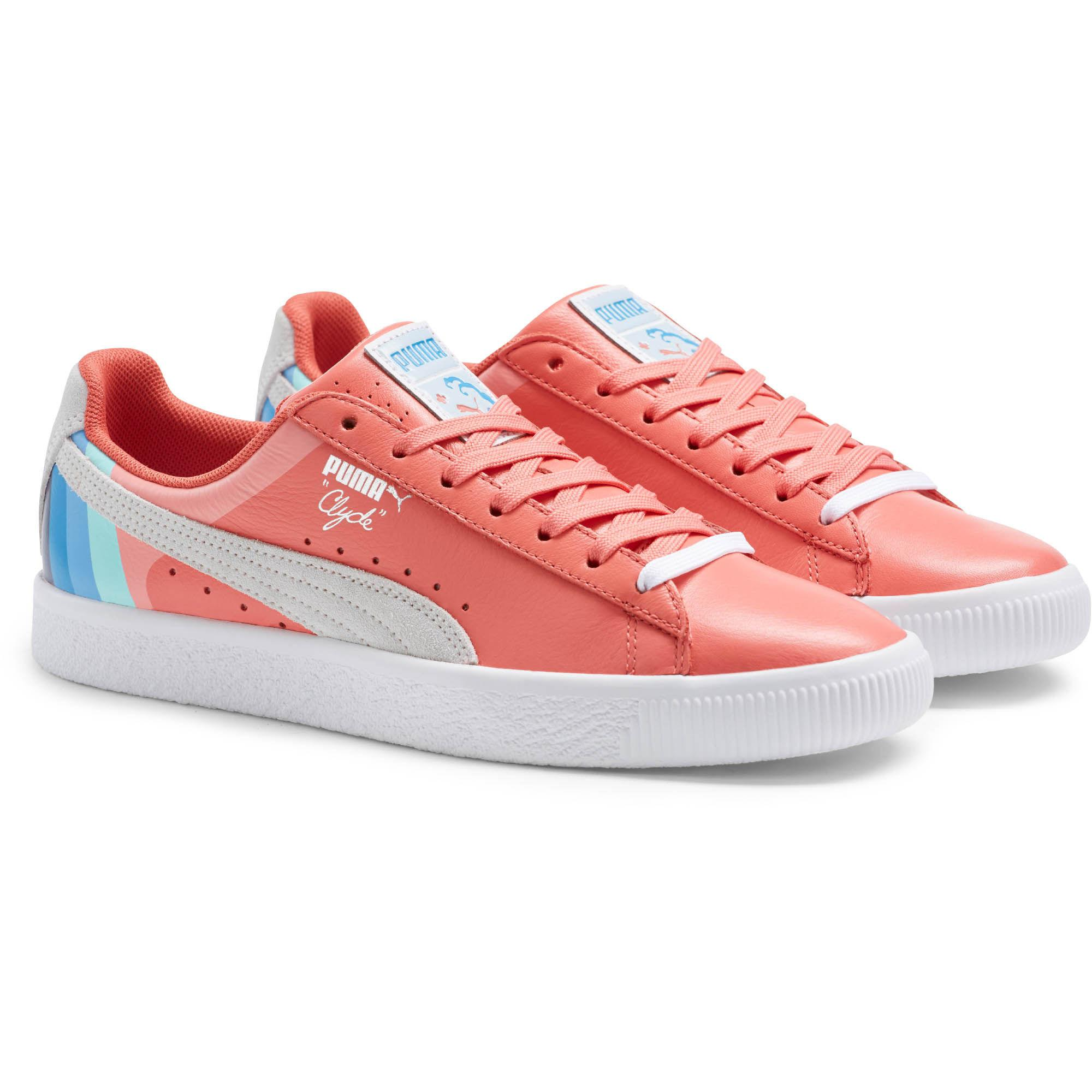 buy online 645aa 1cb7a PUMA Multicolor X Pink Dolphin Clyde Sneakers for men