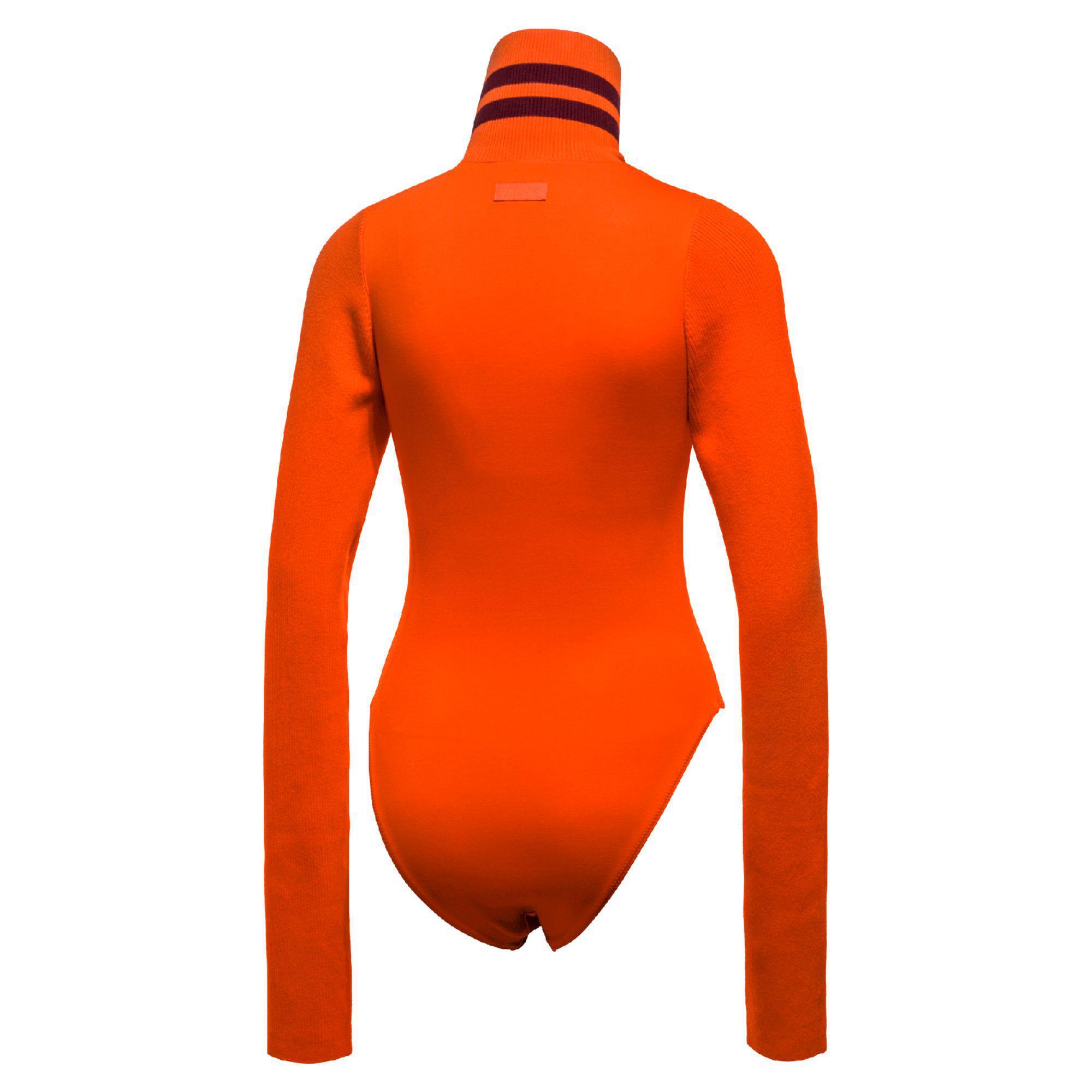961ad25e17 PUMA Orange Fenty Women's Longsleeve Full Zip Bodysuit