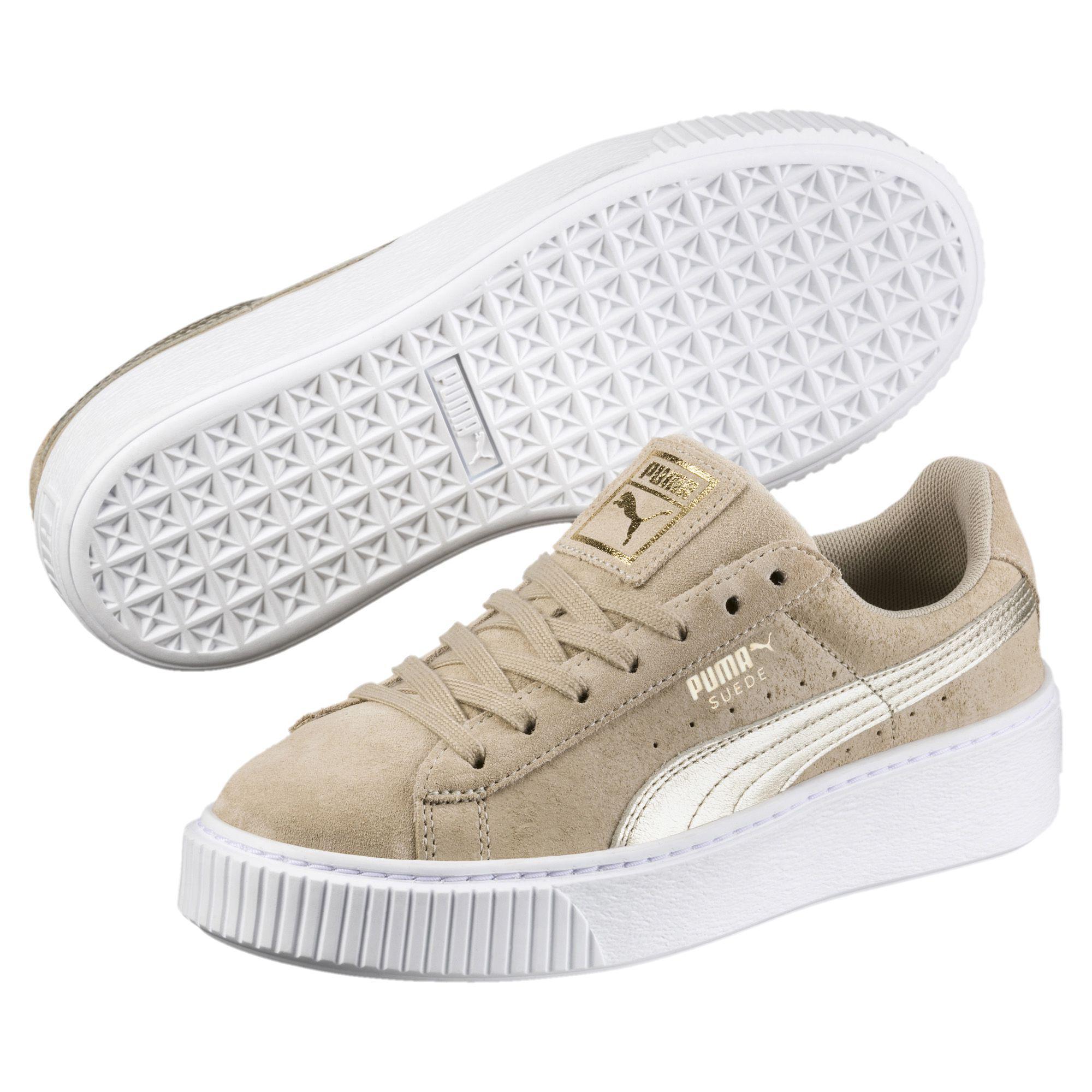 5d88f8af0d142 PUMA Multicolor Suede Platform Metallic Safari Women's Sneakers