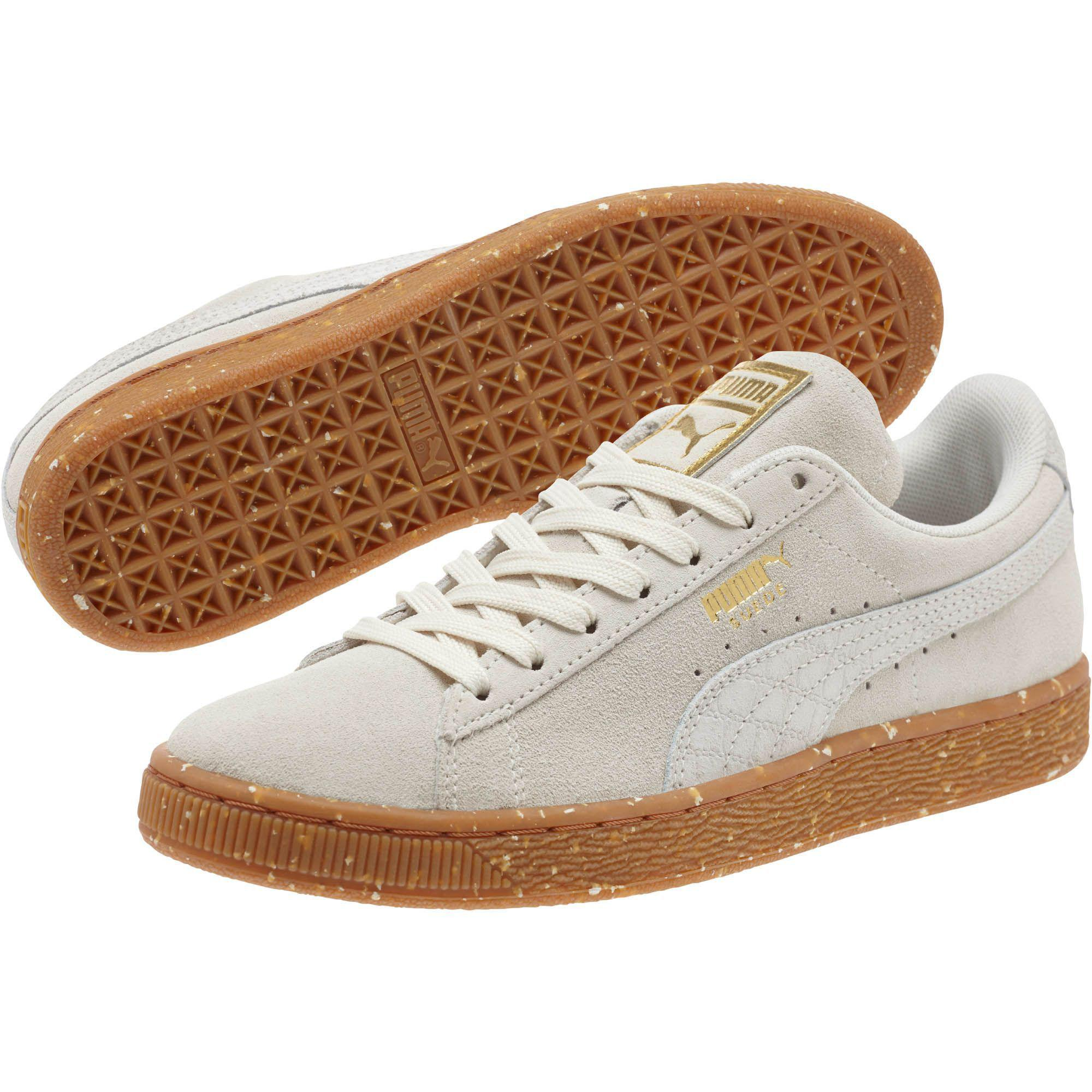 Lyst - PUMA Suede Classic Ft Women s Sneakers in White 28875352d2340