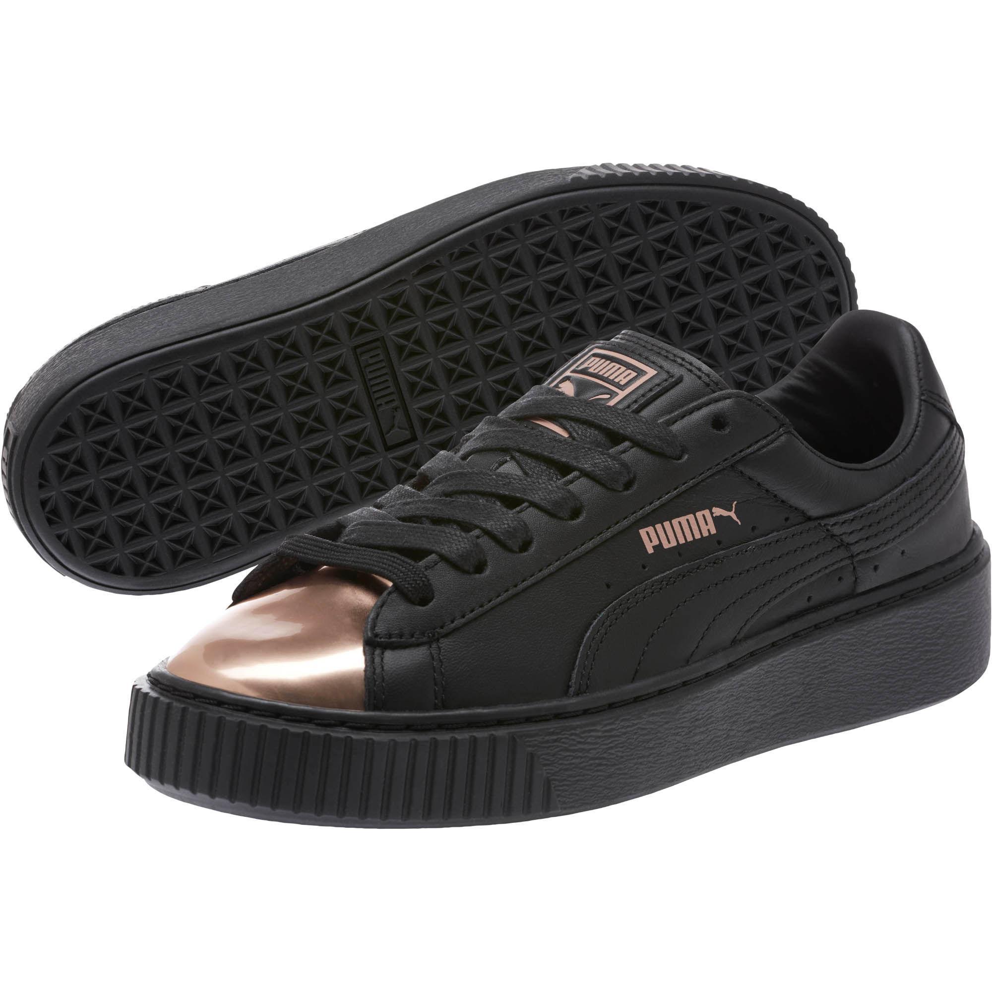 095febf26beb Lyst - PUMA Basket Platform Metallic Women s Sneakers in Black