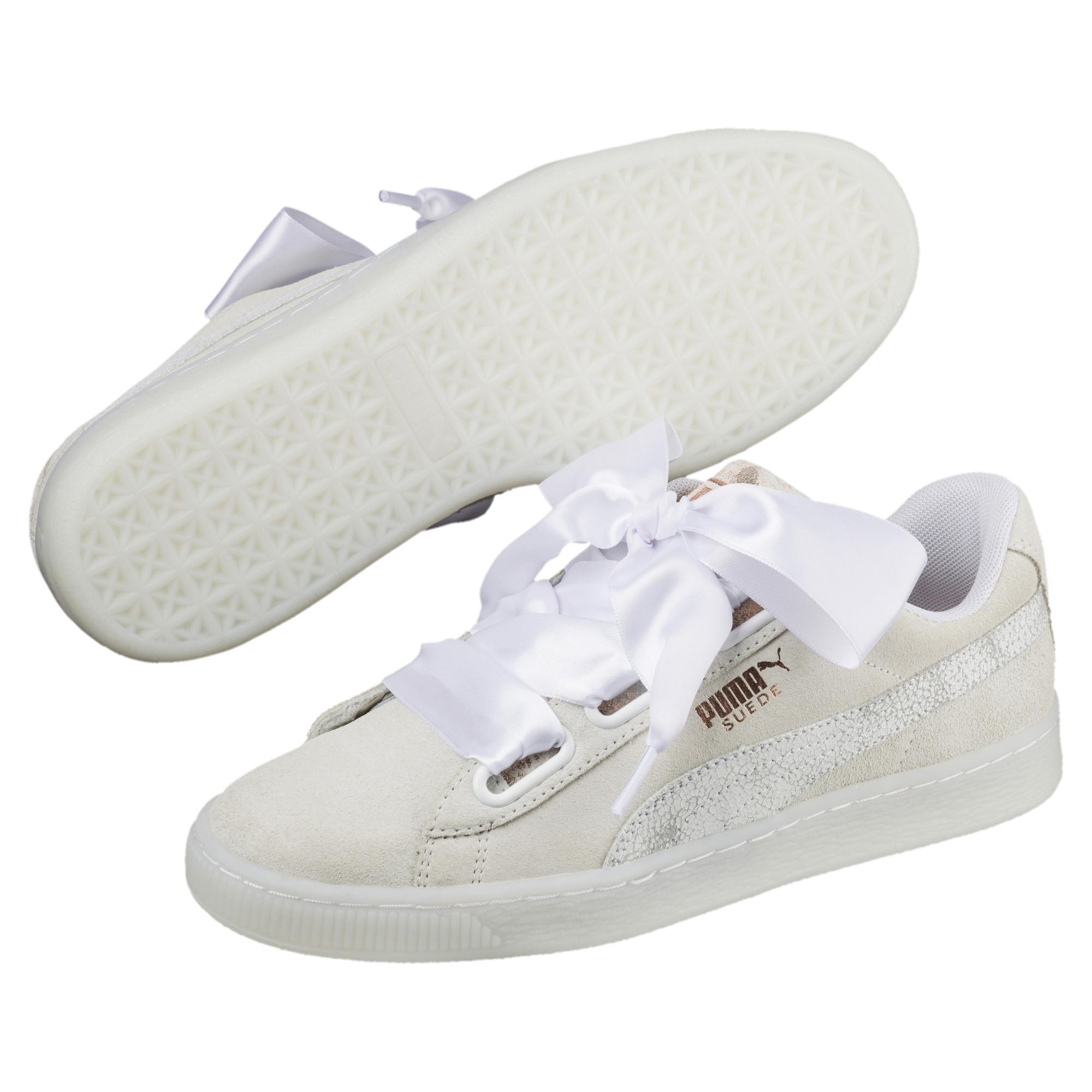 f0d6117b2c2 PUMA - White Suede Heart Arctica Women s Sneakers - Lyst. View fullscreen