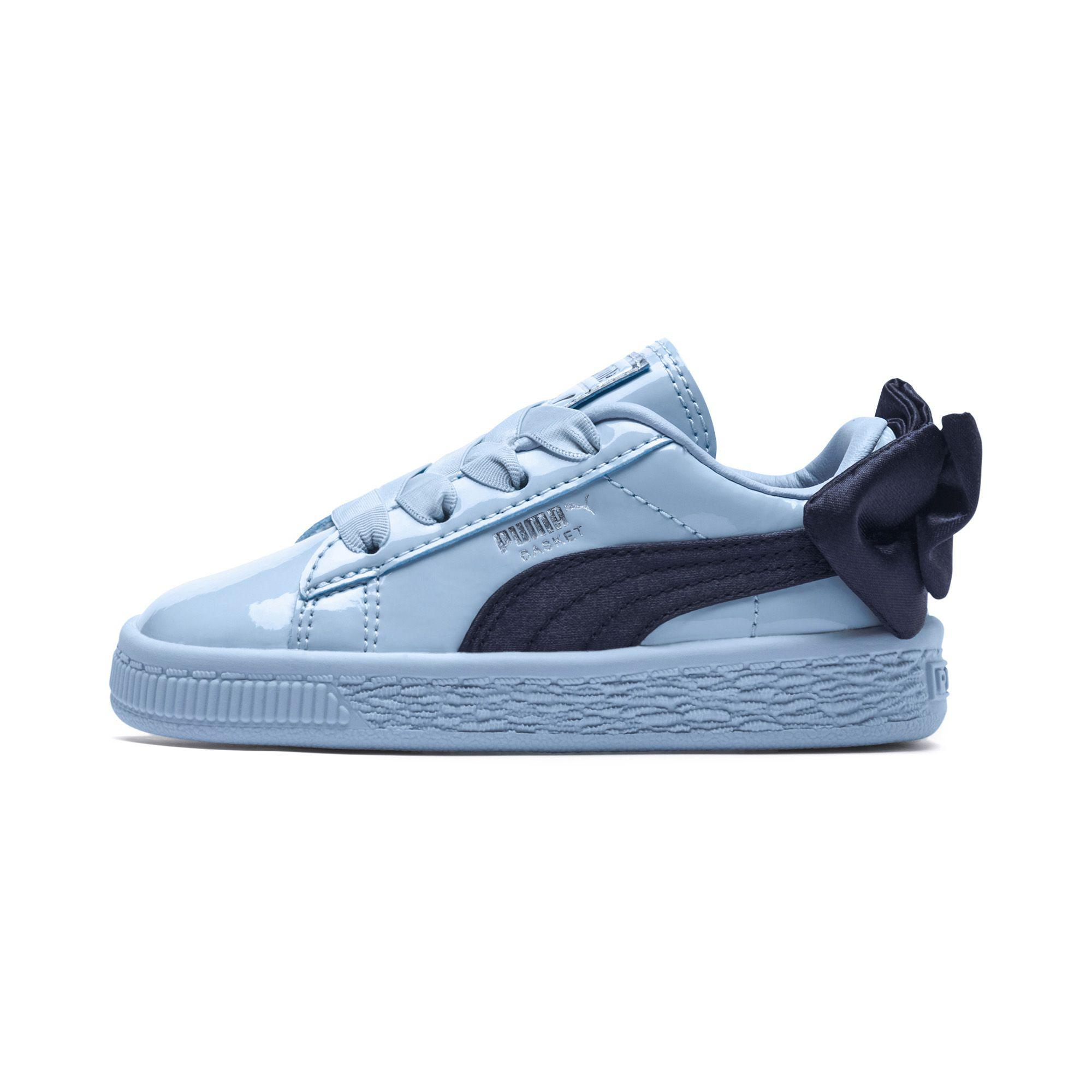 19fa6f25a202 Lyst - PUMA Basket Bow Patent Kid s Sneakers in Blue