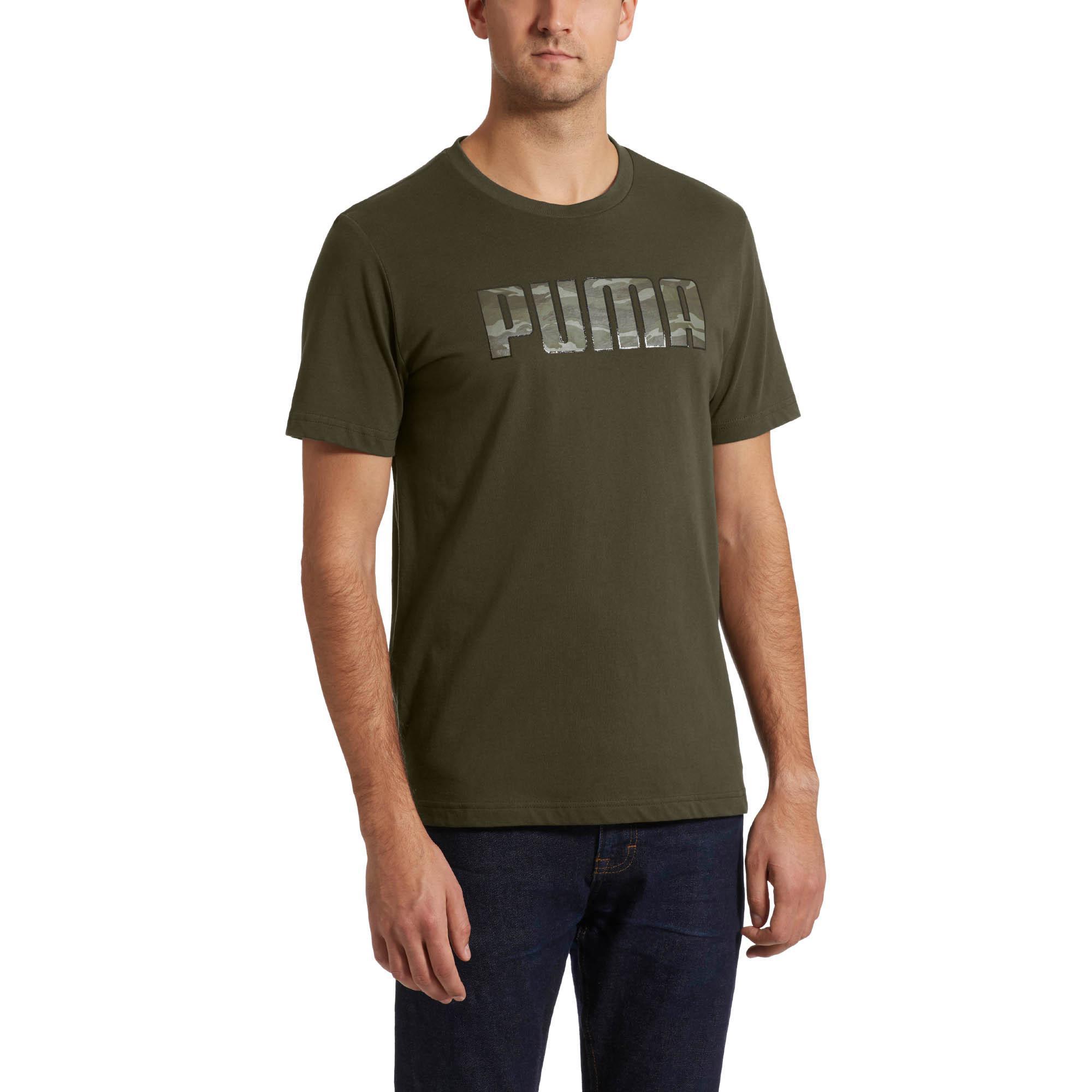 b25ae411189 PUMA - Green Camo Logo T-shirt for Men - Lyst. View fullscreen