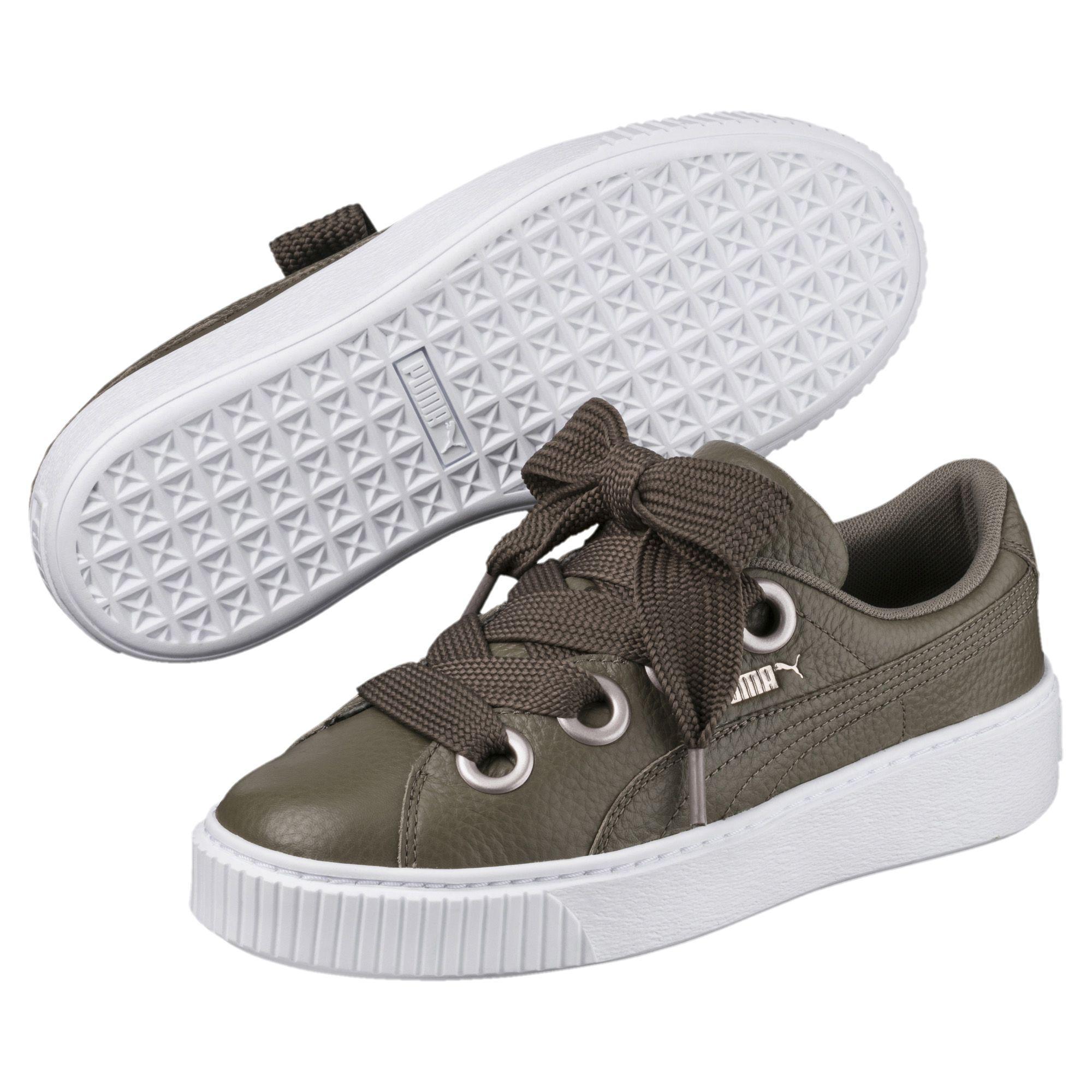 PUMA Platform Kiss Leather Women's Sneakers - Lyst
