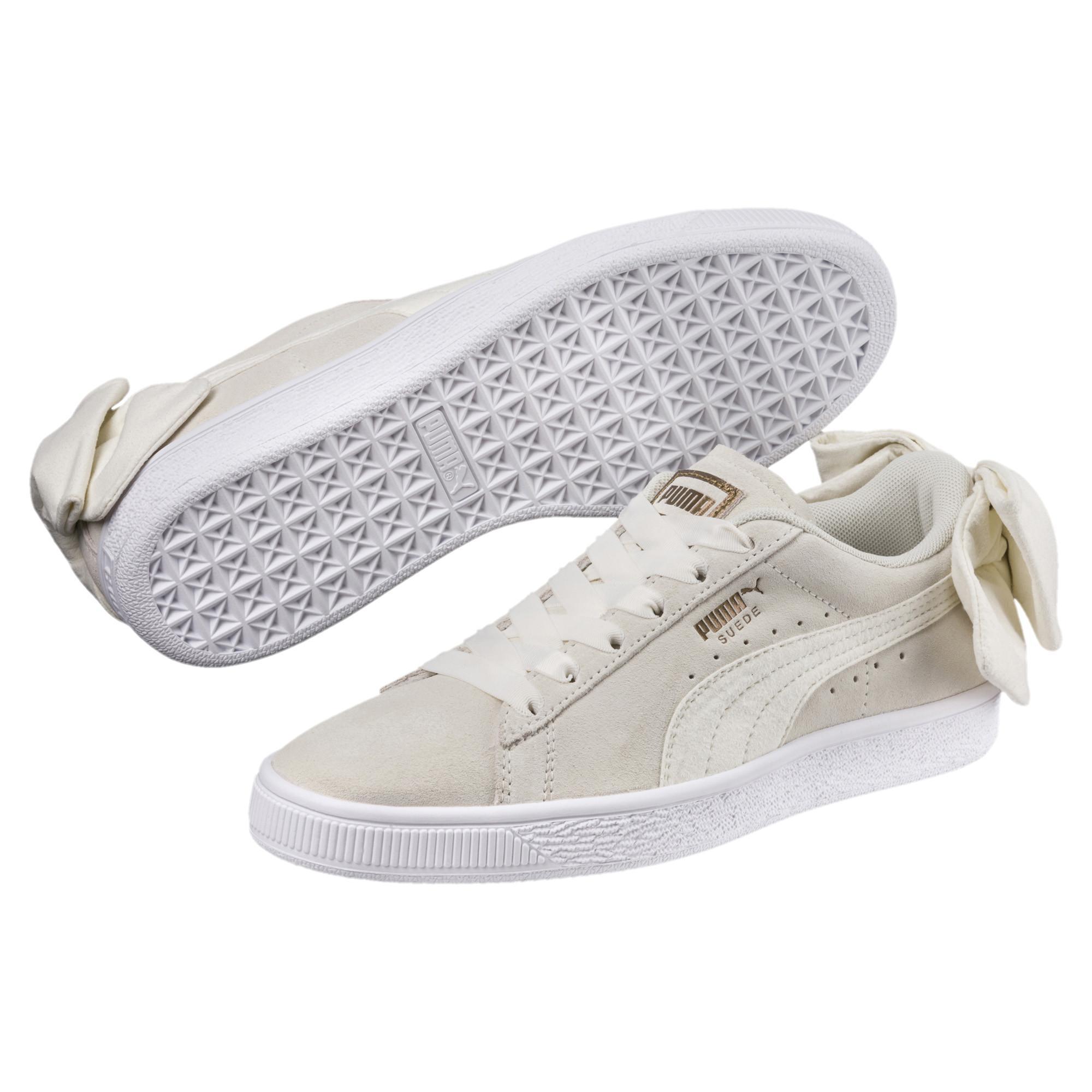 51e9bb70e30 PUMA - White Suede Bow Women s Sneakers - Lyst. View fullscreen