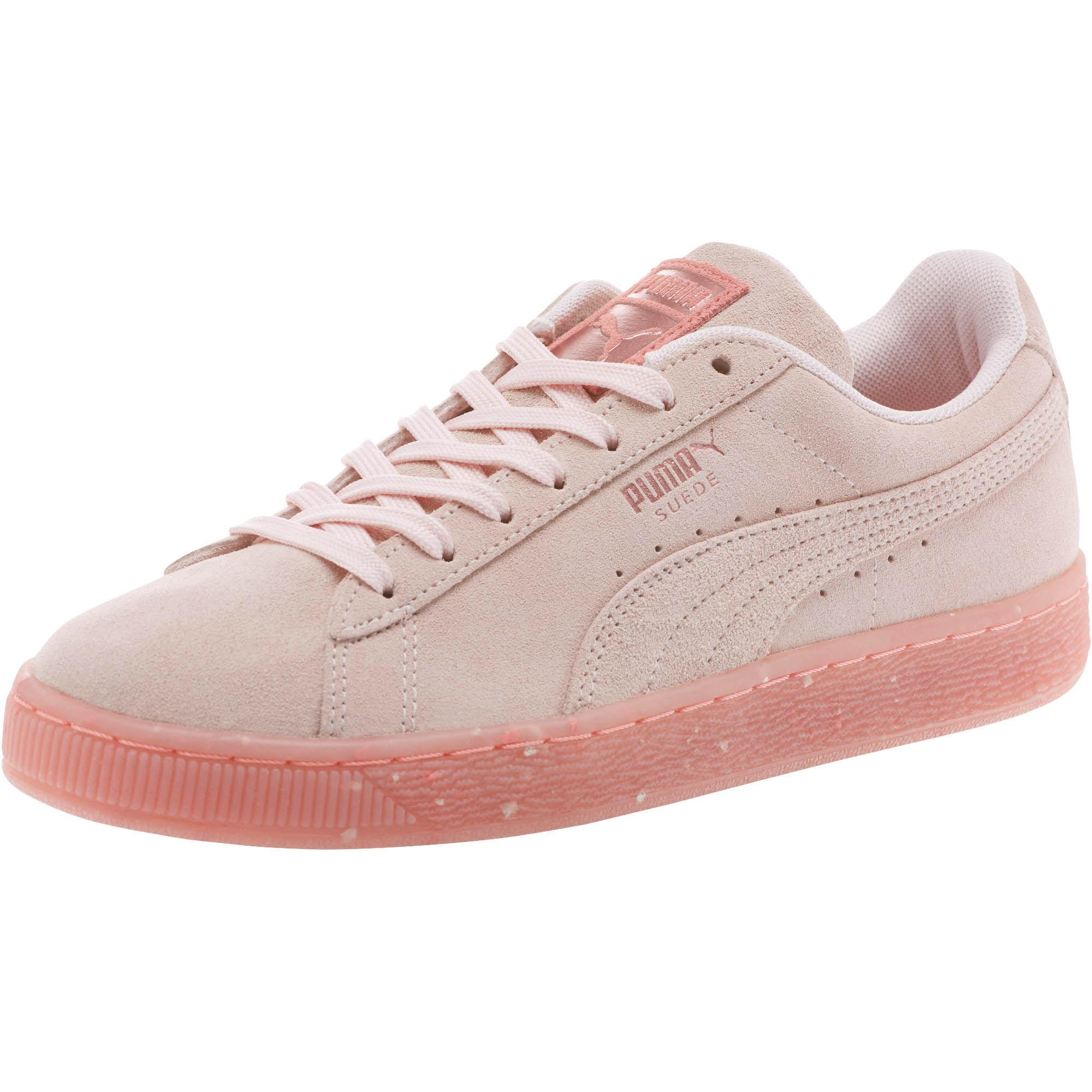 new product 69642 66a45 PUMA Pink Suede Classic Glitz 's Sneakers